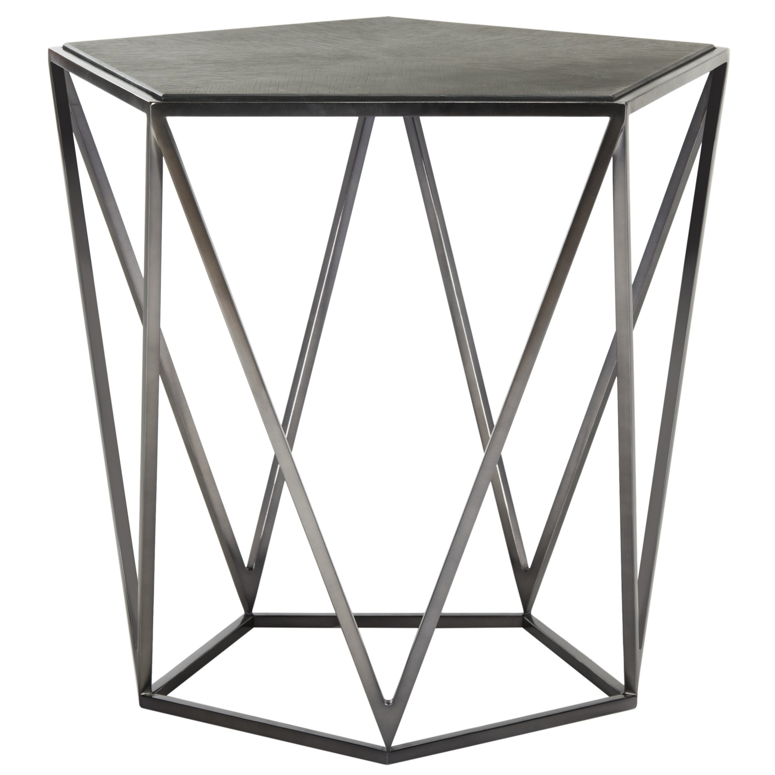 Safavieh Couture High Line Collection Alba Geometric Espresso Side Table Free Shipping Today 14143089