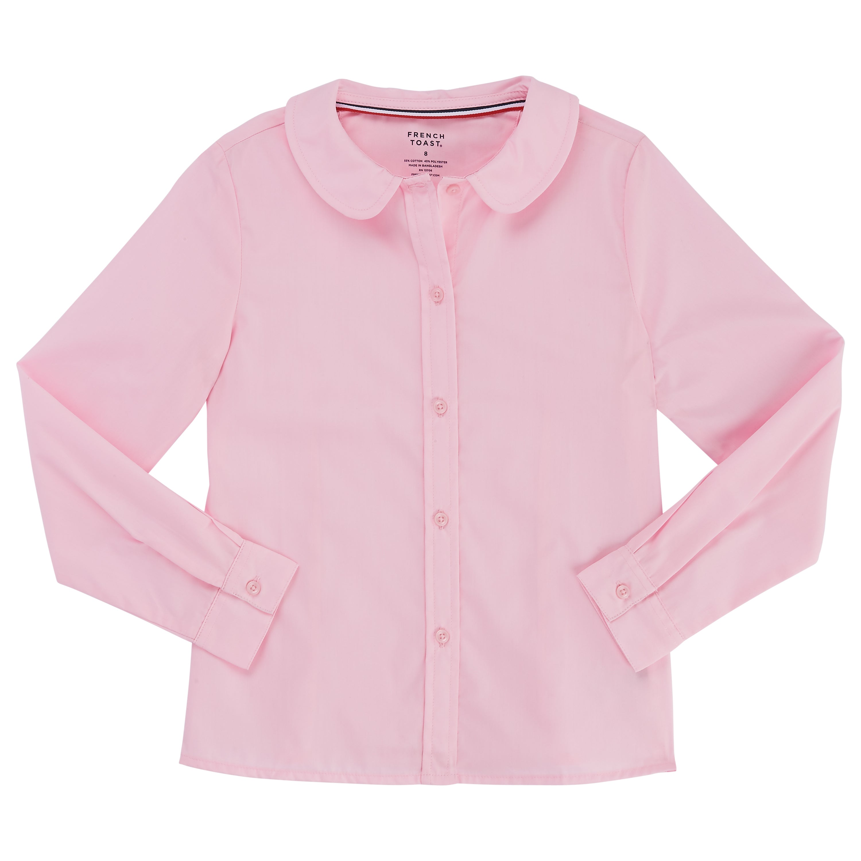57c82579f0d2a7 Shop French Toast Girls' Long-sleeve Modern Peter Pan Blouse - Free  Shipping On Orders Over $45 - Overstock - 14153924