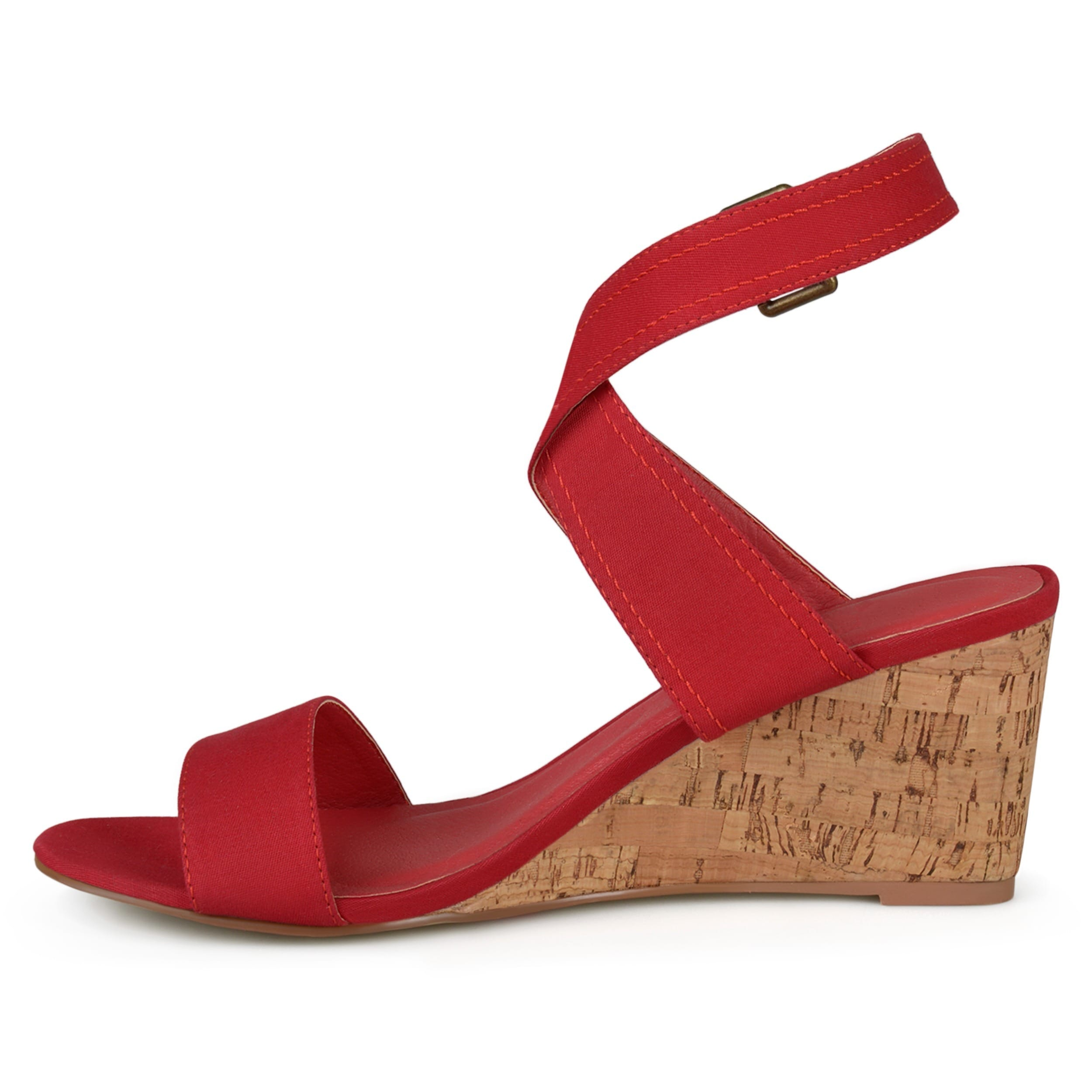 Journee Collection Kaylee ... Women's Wedge Sandals 758Dif