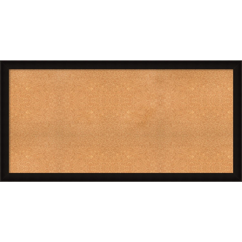 Shop Framed Cork Board, Choose Your Custom Size, Manteaux Black Wood ...