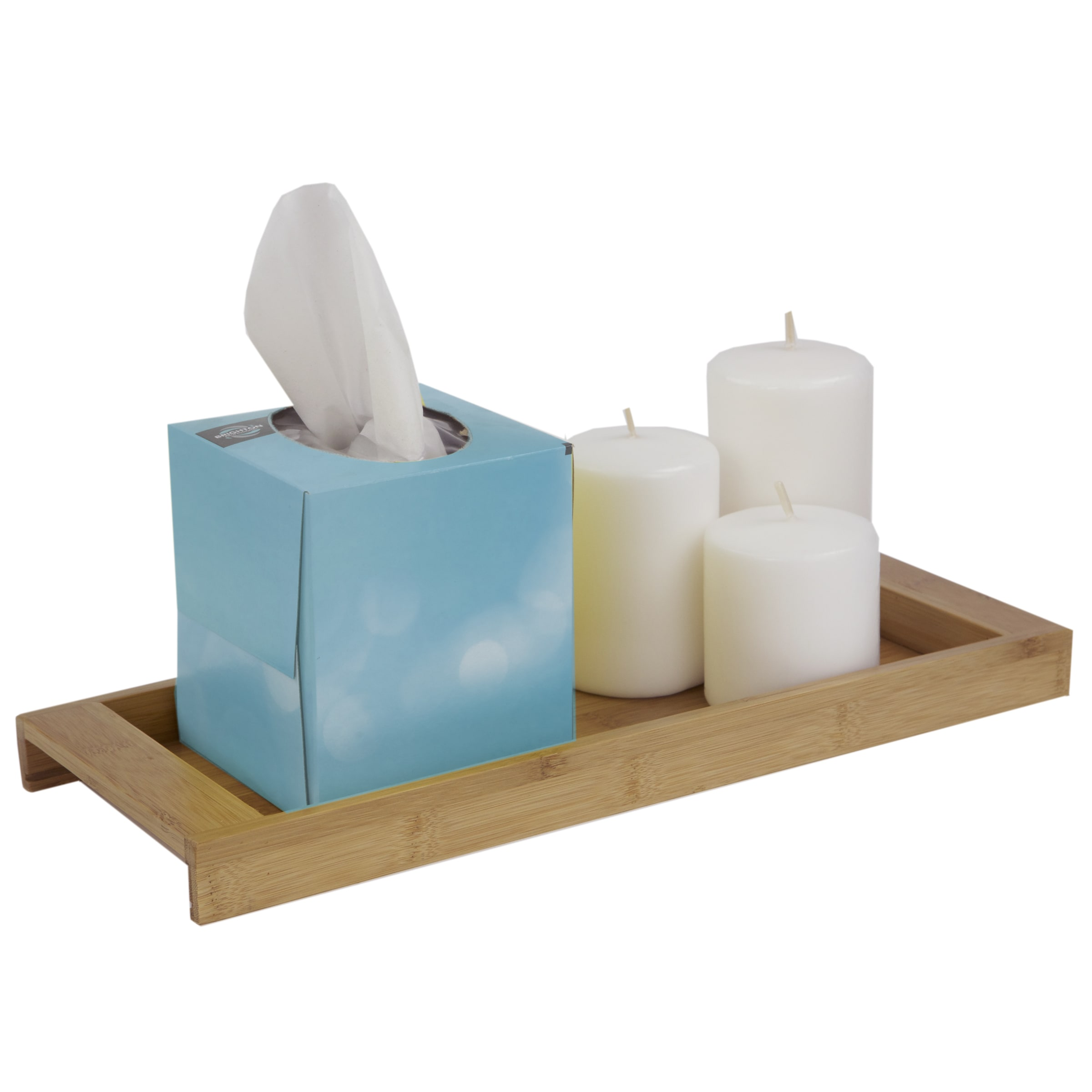 Home Basics Natural Bamboo Bathroom Accessories - Free Shipping On ...