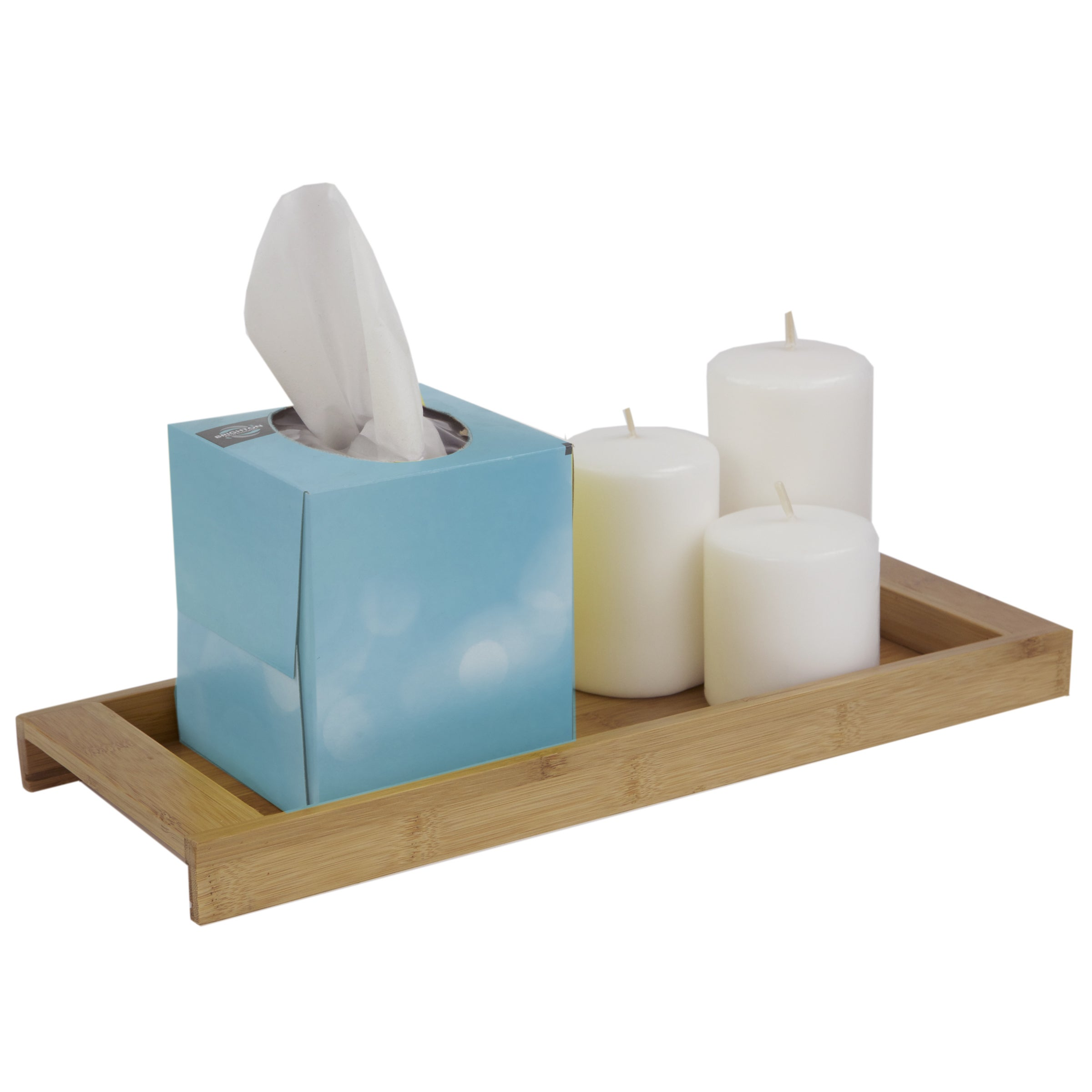 Shop Home Basics Natural Bamboo Bathroom Accessories - Free Shipping ...