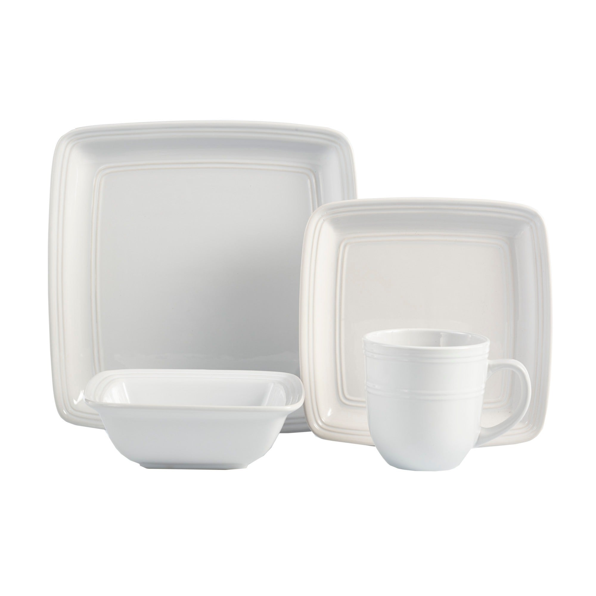 American Atelier Earthenware 16-piece Square Dinnerware Set (Service for 4) - Free Shipping Today - Overstock - 20757010  sc 1 st  Overstock.com & American Atelier Earthenware 16-piece Square Dinnerware Set (Service ...