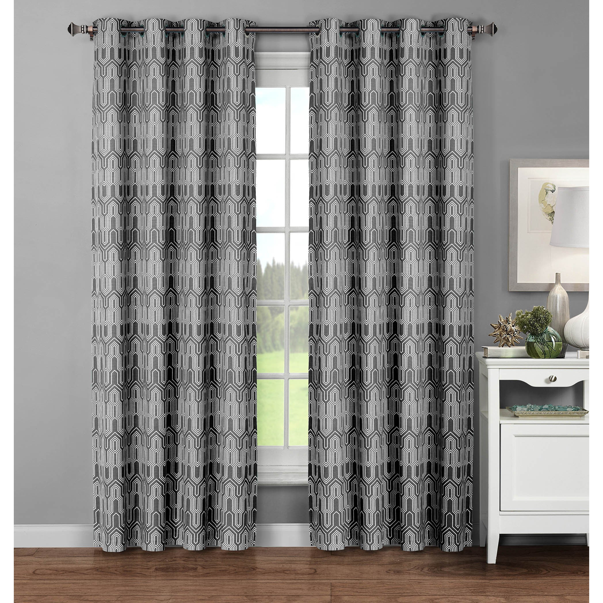 panel color geometric gold window moroccan luxury pattern pair treatments curtains white yellow trellis set pin medallion drape drapes inch sundress