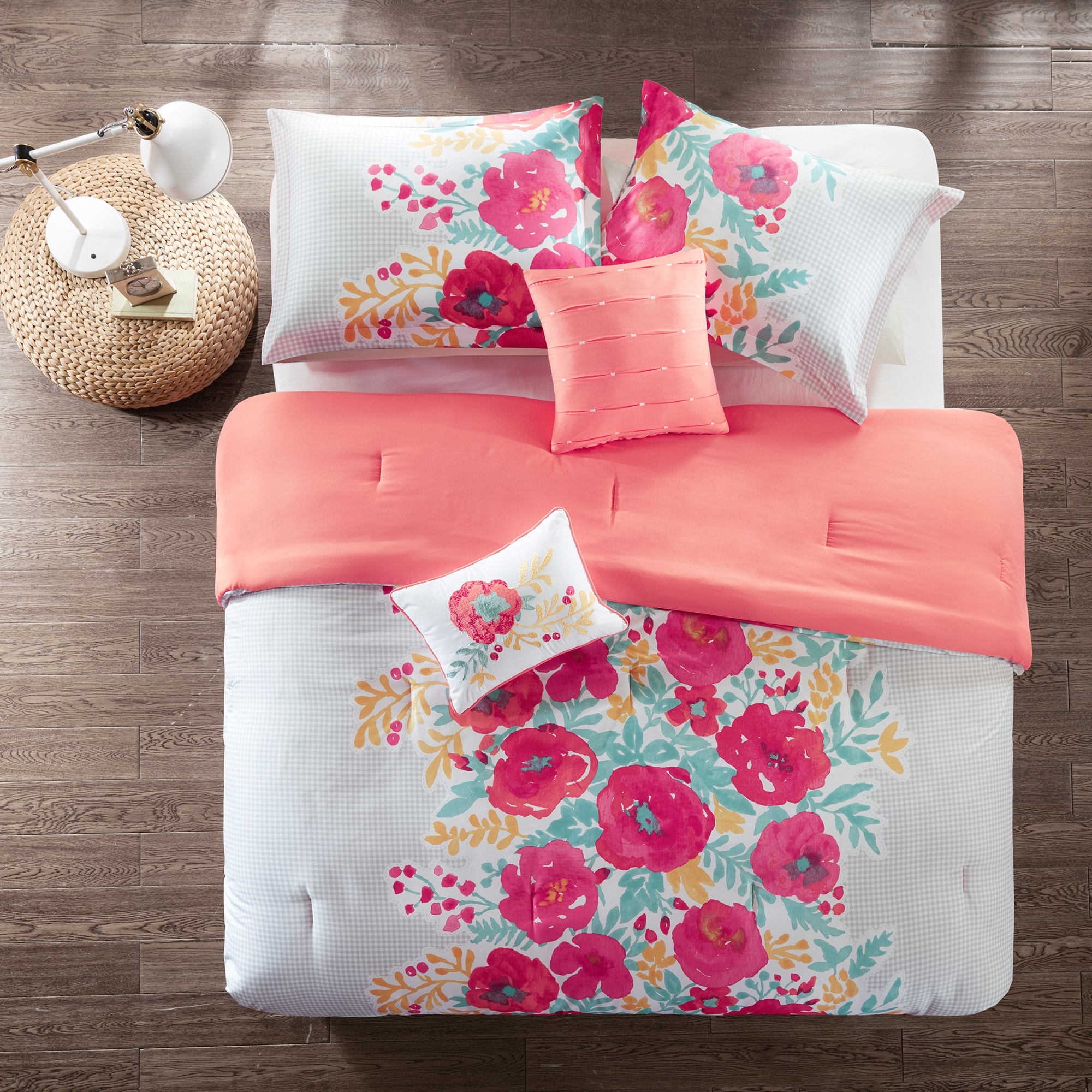comforter bedding wayfair reversible bed and keyword turquoise set coral emma