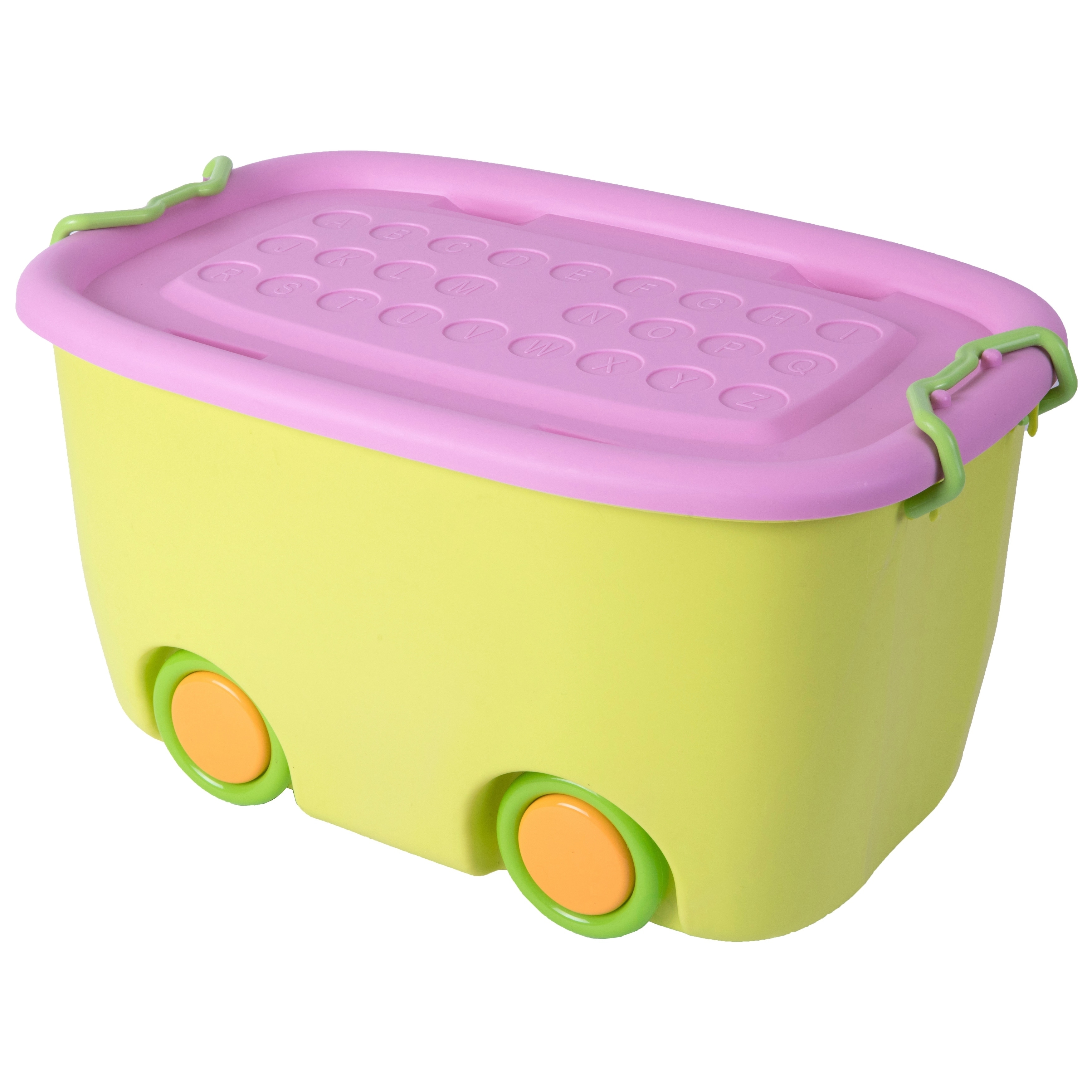 Shop Stackable Toy Storage Box With Wheels   Free Shipping On Orders Over  $45   Overstock.com   14160391