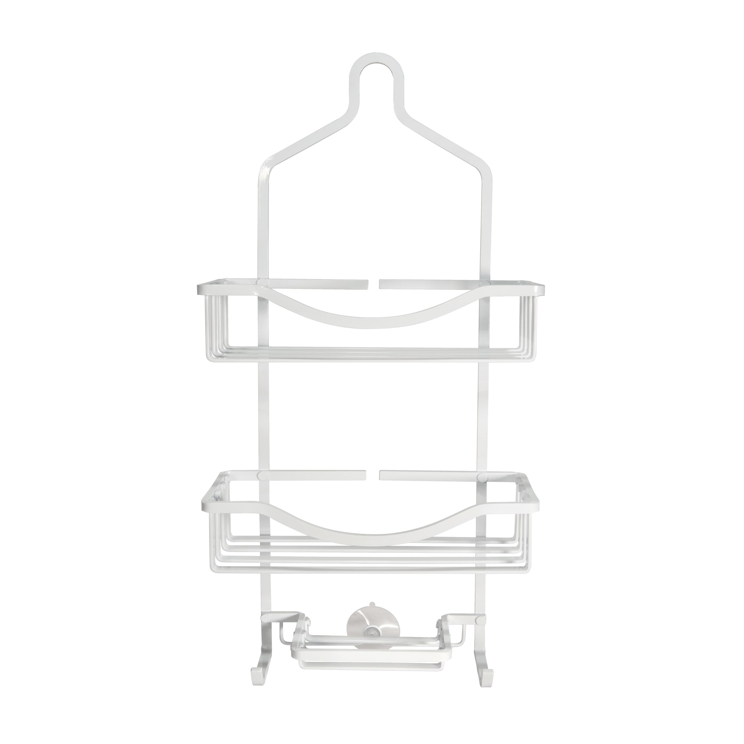 Bath Bliss White Aluminum Shower Caddy - Free Shipping On Orders ...