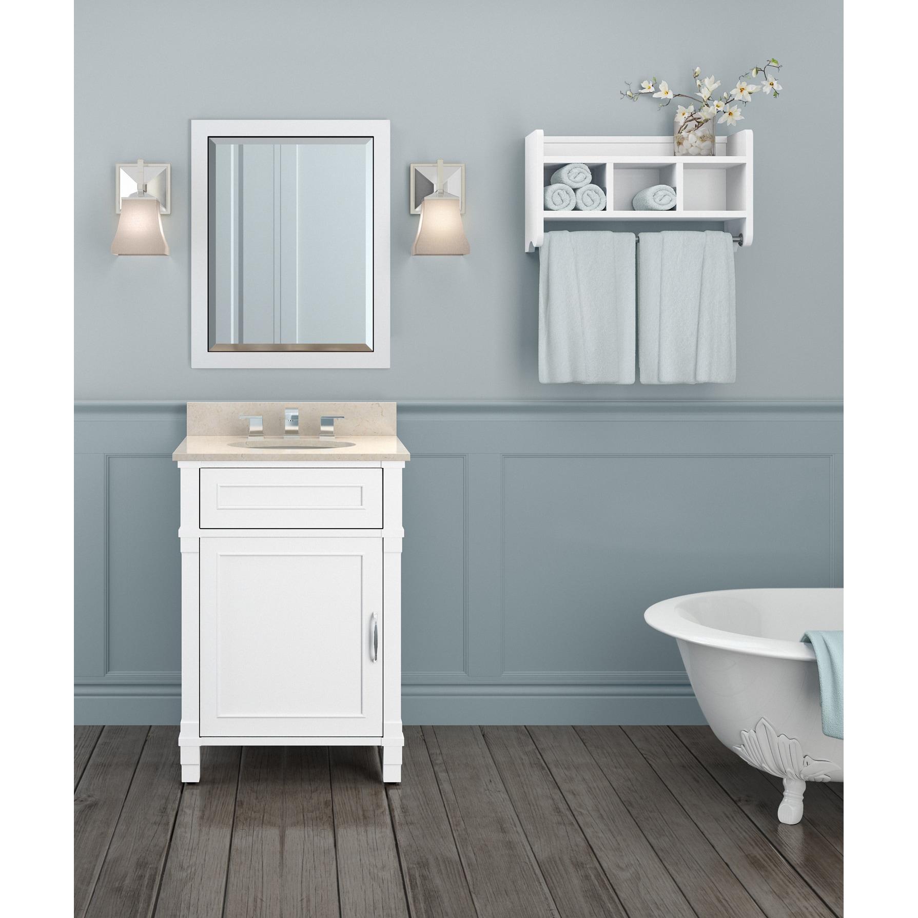 Shop Williamsburg Marble Sink White 24-in Bathroom Vanity with ...