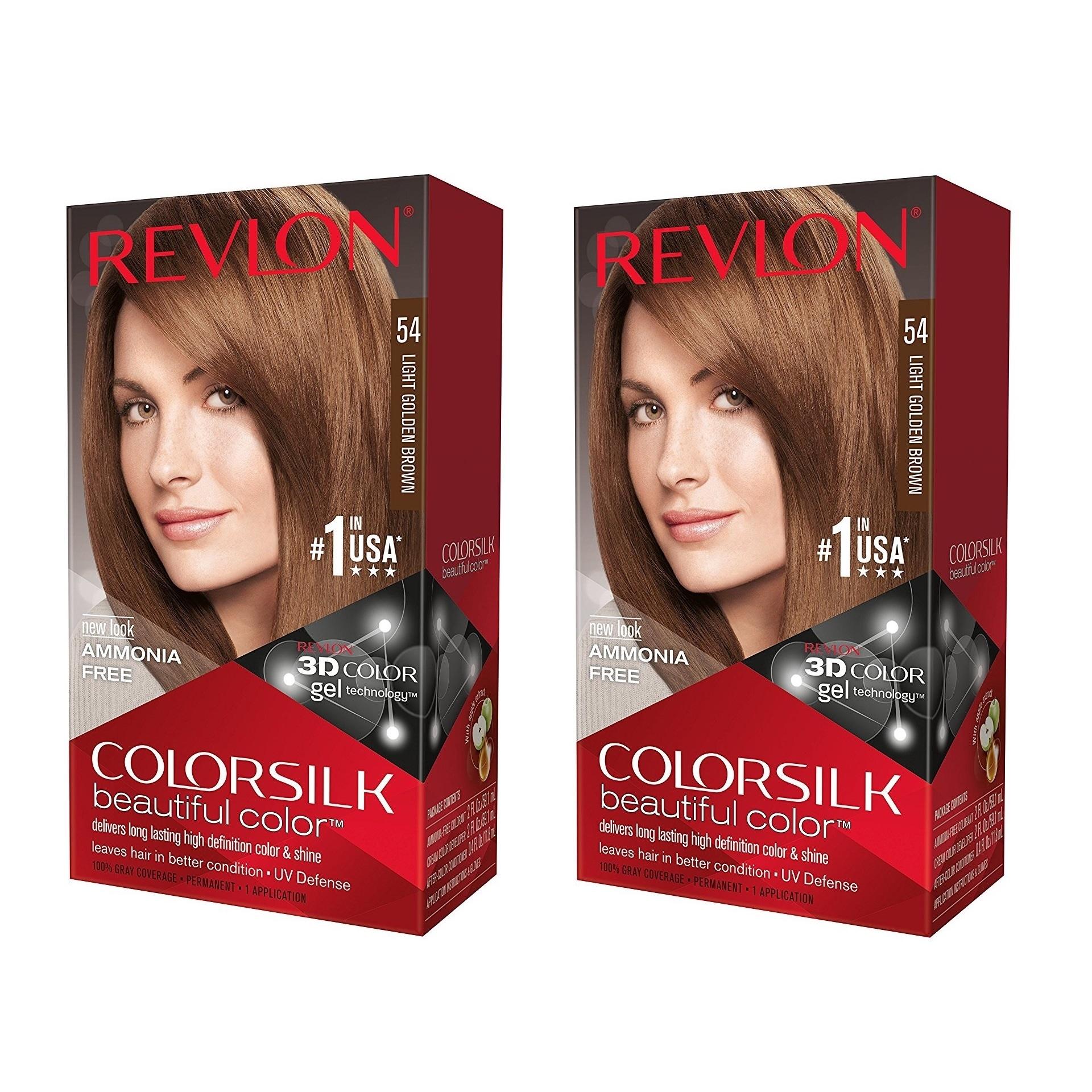 Shop Revlon Colorsilk Hair Color Light Golden Brown 54 Free