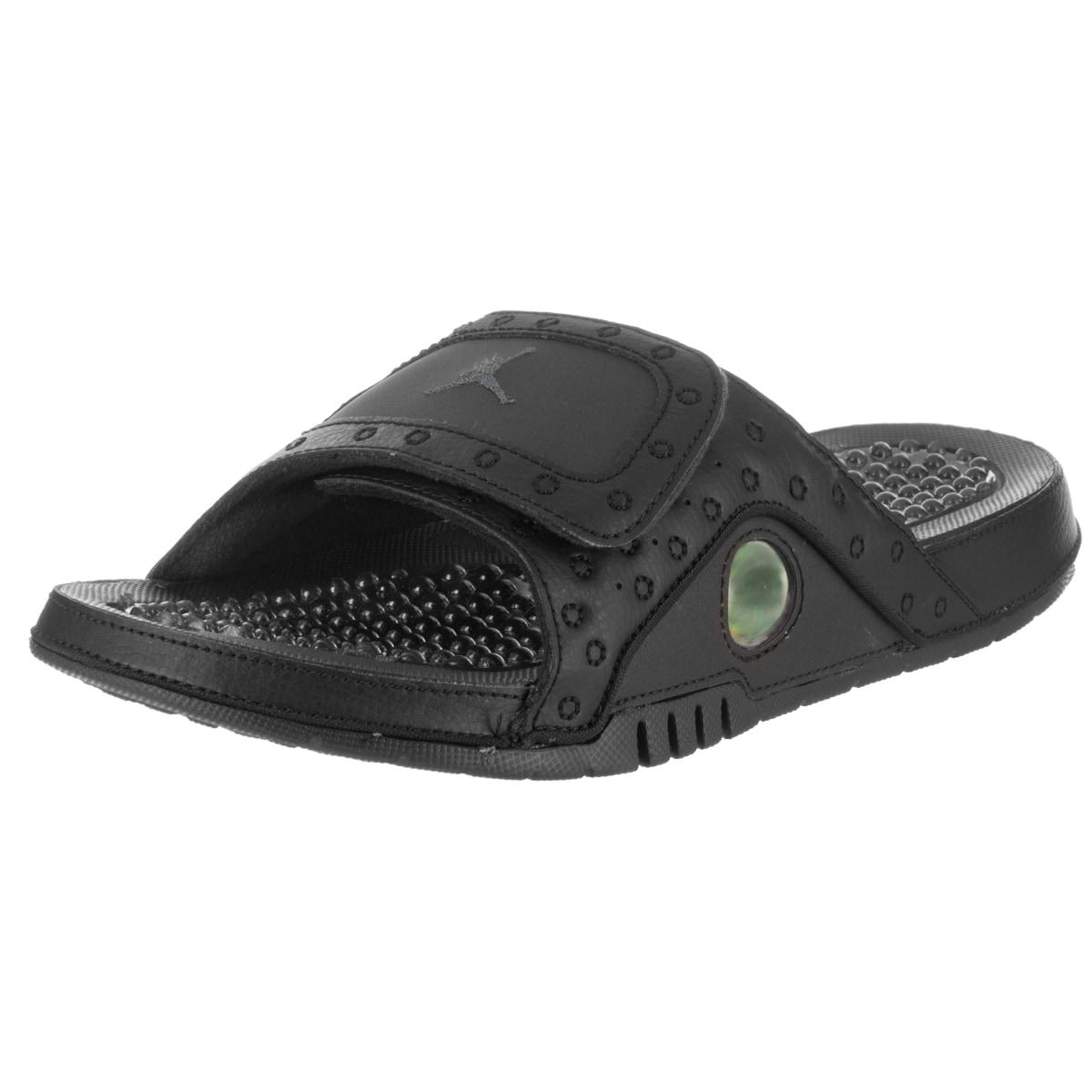 2cbc90d27f12 Nike Jordan Men s Jordan Hydro XIII Black Synthetic-leather Retro Sandals