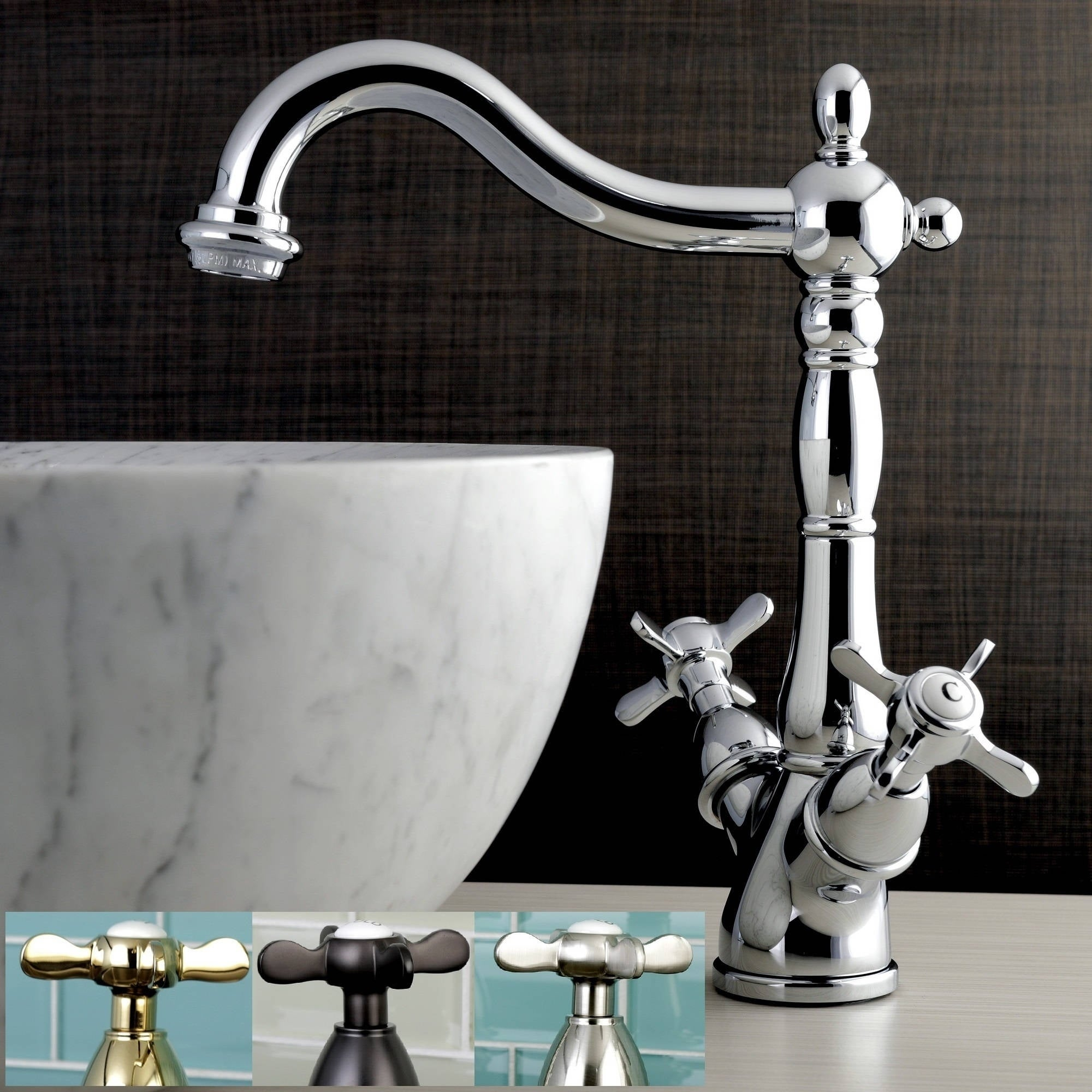 Vintage Cross Vessel Bathroom Faucet - Free Shipping Today ...