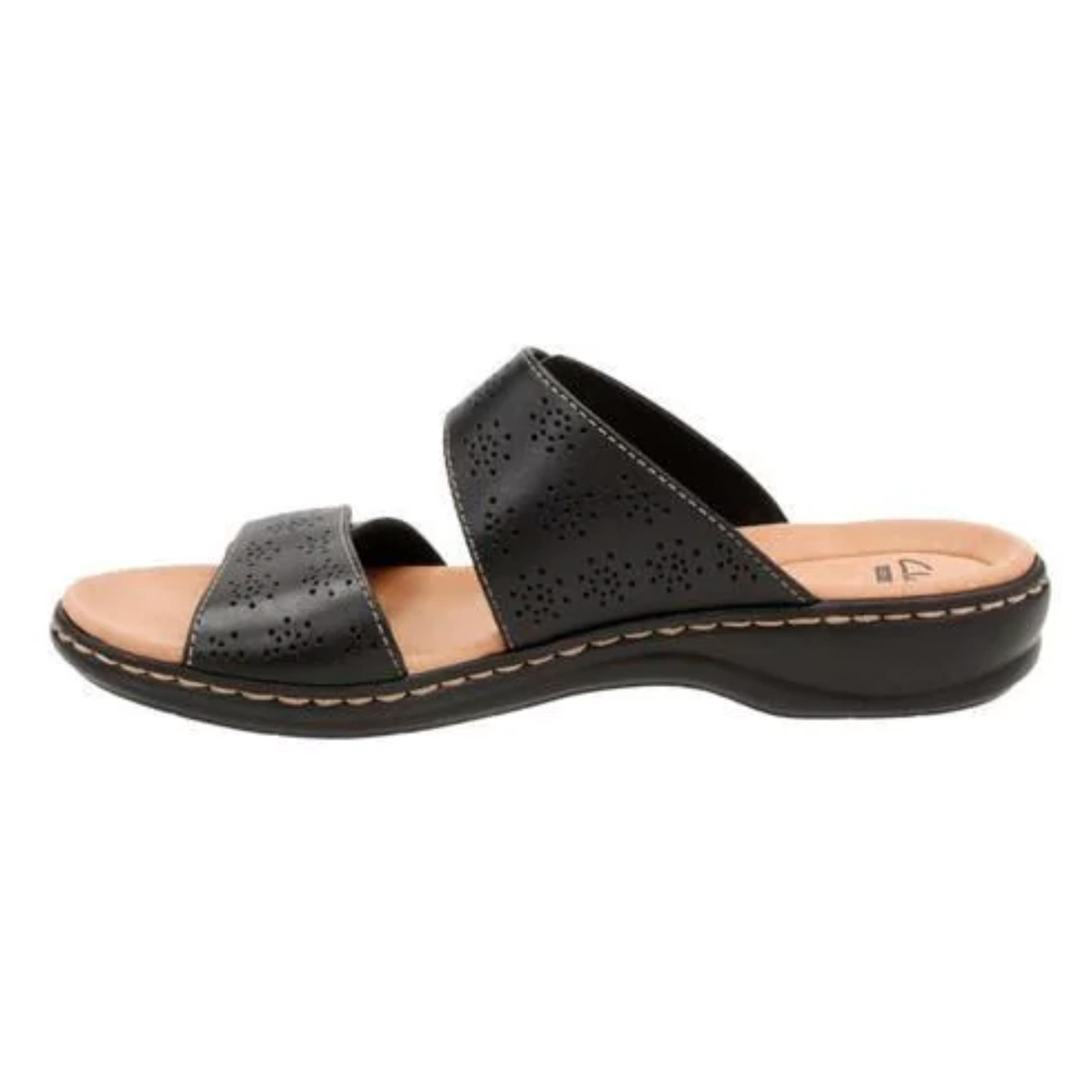 105d2145e36 Shop Women s Clarks Leisa Lacole Slide Black Leather - Free Shipping Today  - Overstock - 14165544