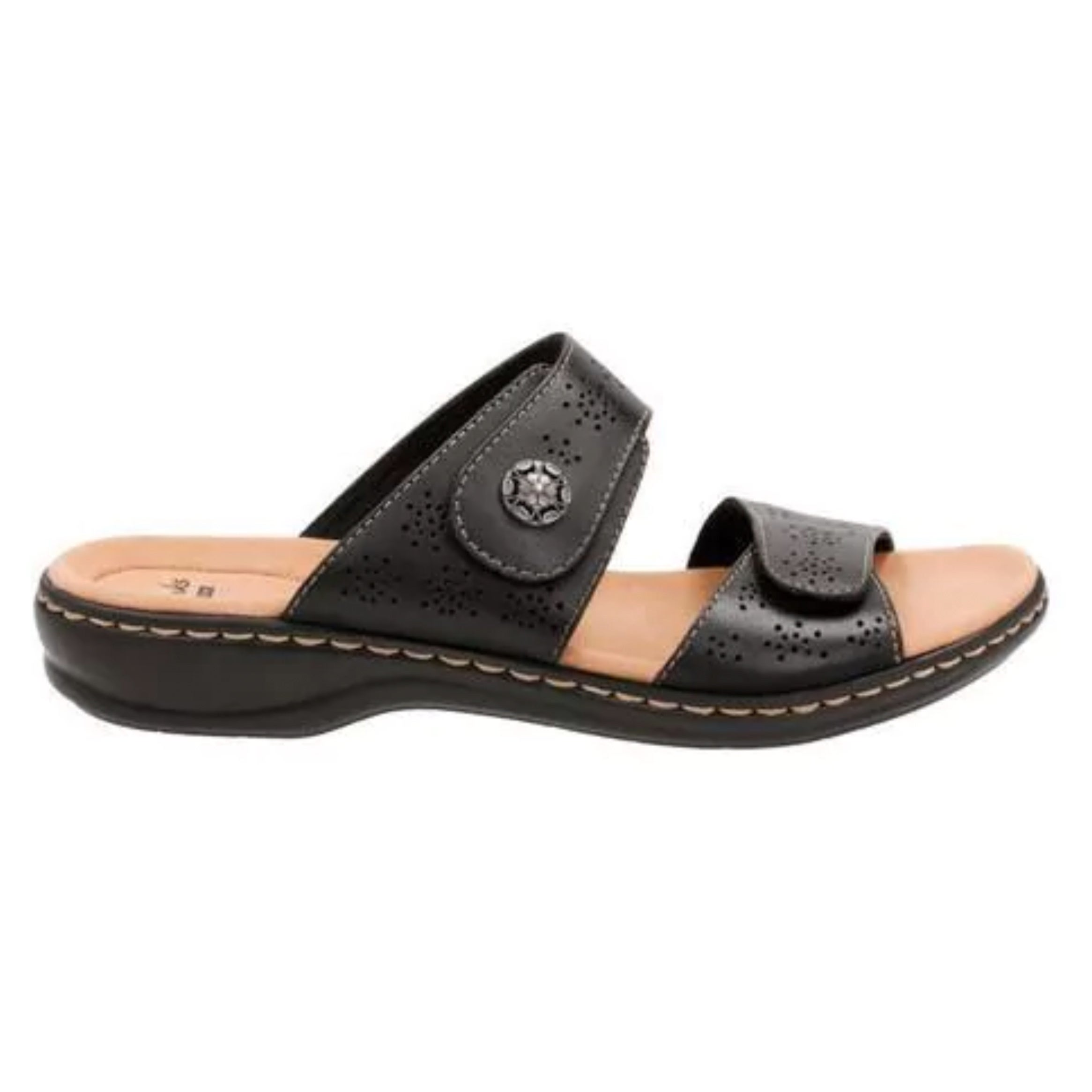 bc1da82f8888 Shop Women s Clarks Leisa Lacole Slide Black Leather - Free Shipping Today  - Overstock - 14165544