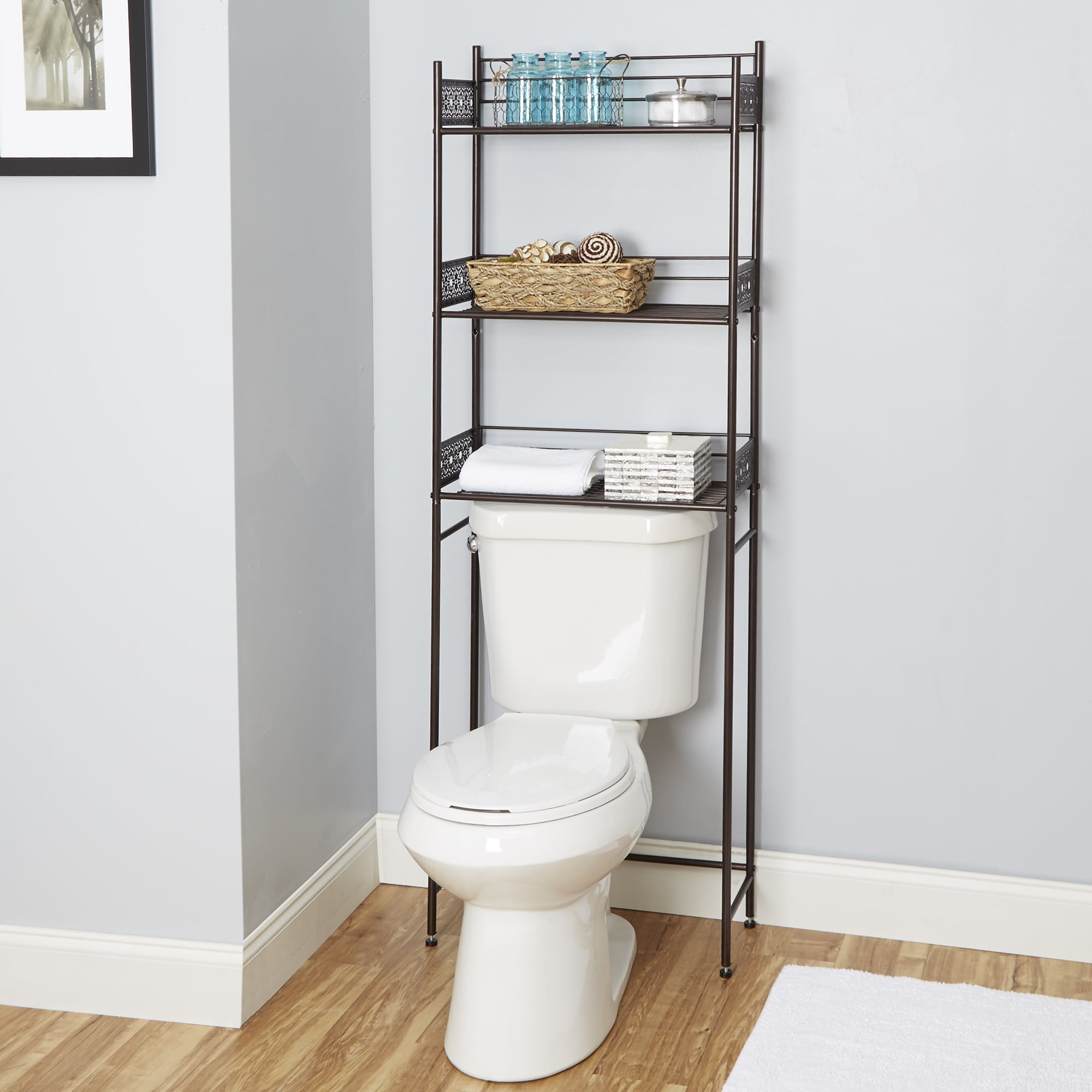 open bathroom the spacesaver toilet home white zenna over shelf med