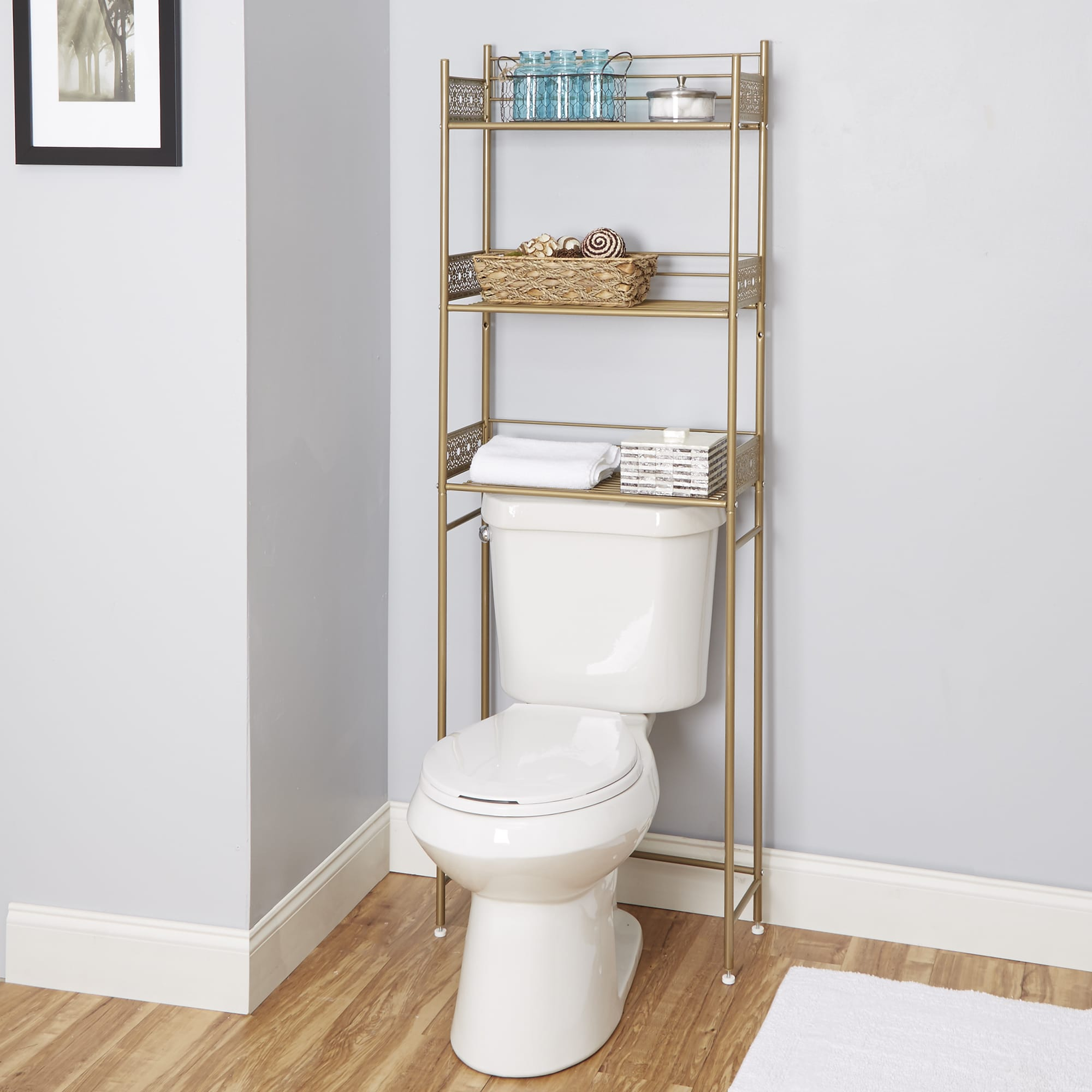 Shop Filigree Bathroom Collection Spacesaver   Free Shipping Today    Overstock.com   14172066