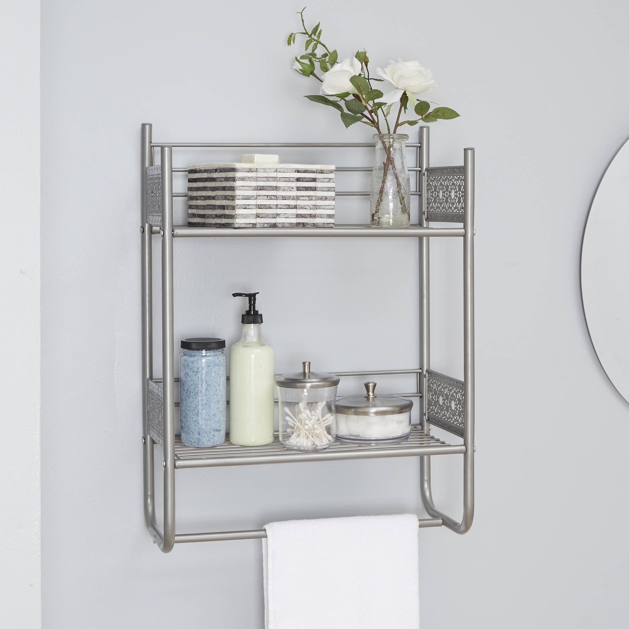 Shop Filigree Bathroom Collection Wall Shelf - Free Shipping Today ...