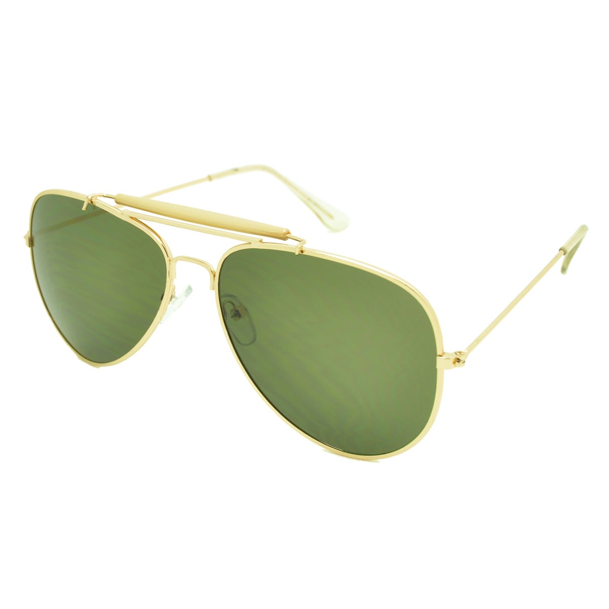 21f229509a1 Shop Dasein Double Bridge Flat Mirror Polarized Lenses Metal Arm Aviator  Sunglasses - On Sale - Free Shipping On Orders Over  45 - Overstock.com -  14172804