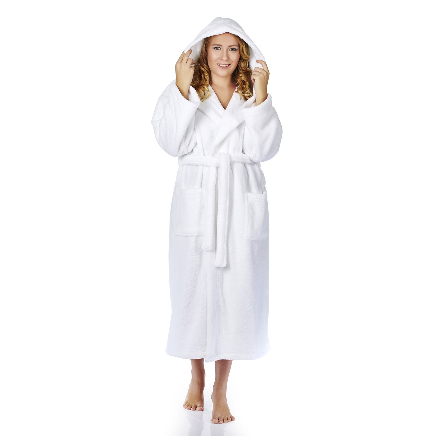 9488911822 Shop Women s Hooded Fleece Bathrobe Turkish Soft Plush Robe - Free Shipping  On Orders Over  45 - Overstock - 14172940