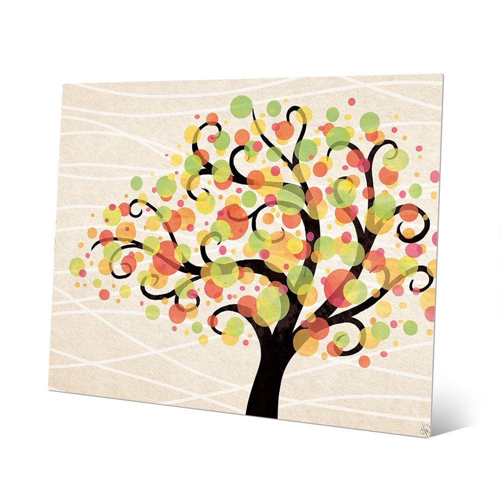 Shop Bubble Tree Beta Aluminum Metal Wall Art Print - On Sale - Free ...