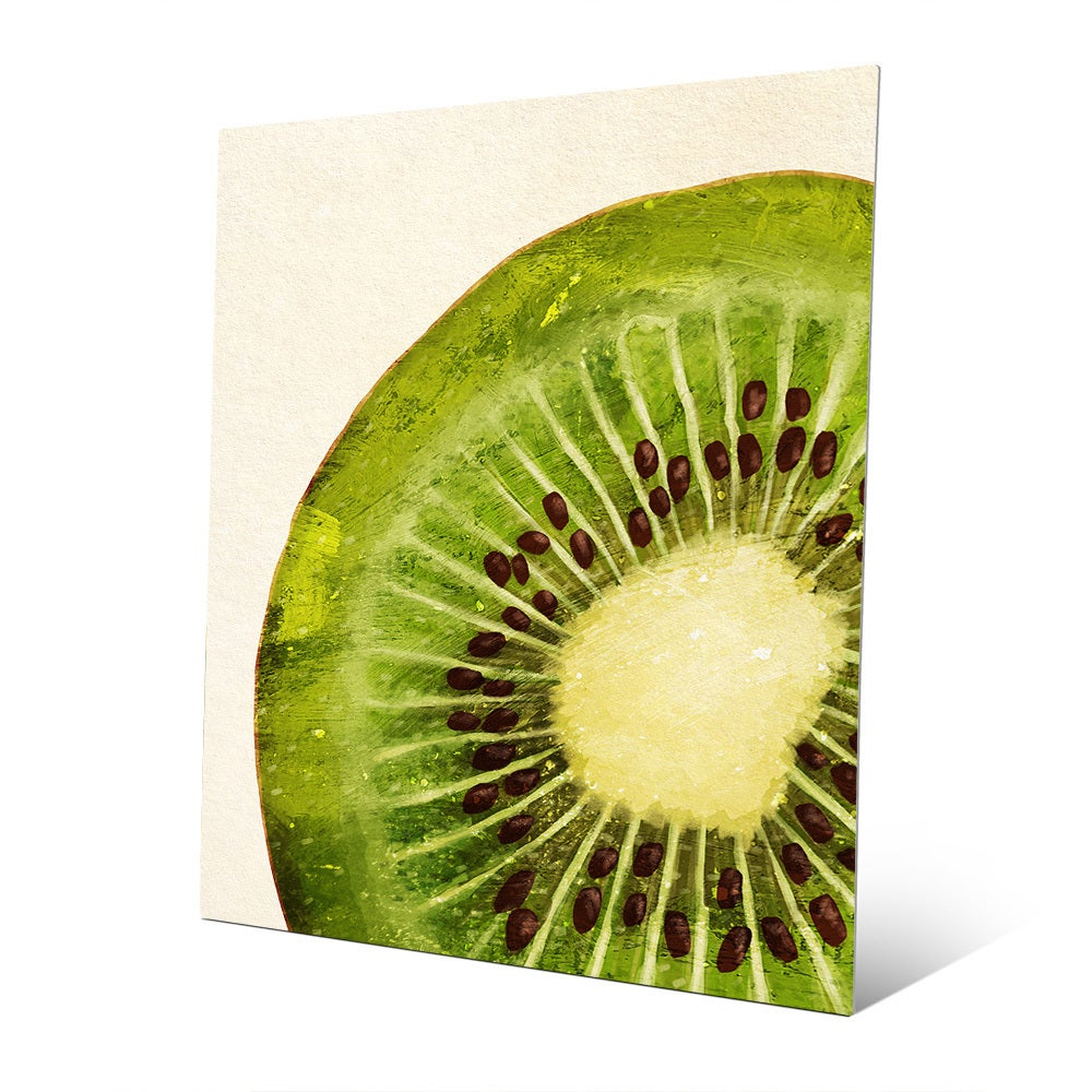 Painted Kiwi Slice\' Metal Wall Art - Free Shipping Today - Overstock ...