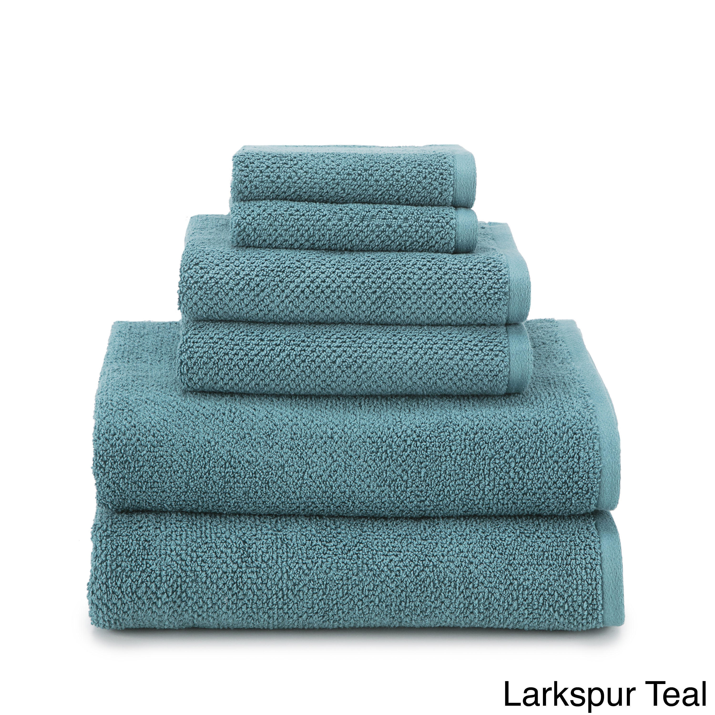 Shop Utica Textured Organic 6-piece Towel Set - Free Shipping On ...