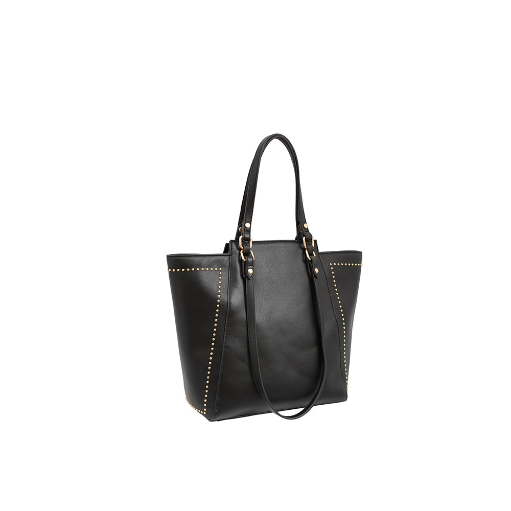 Shop Mellow World Marina Black Faux-leather Studded Tote Bag - Free  Shipping On Orders Over  45 - Overstock.com - 14174292 77c26e77c4643