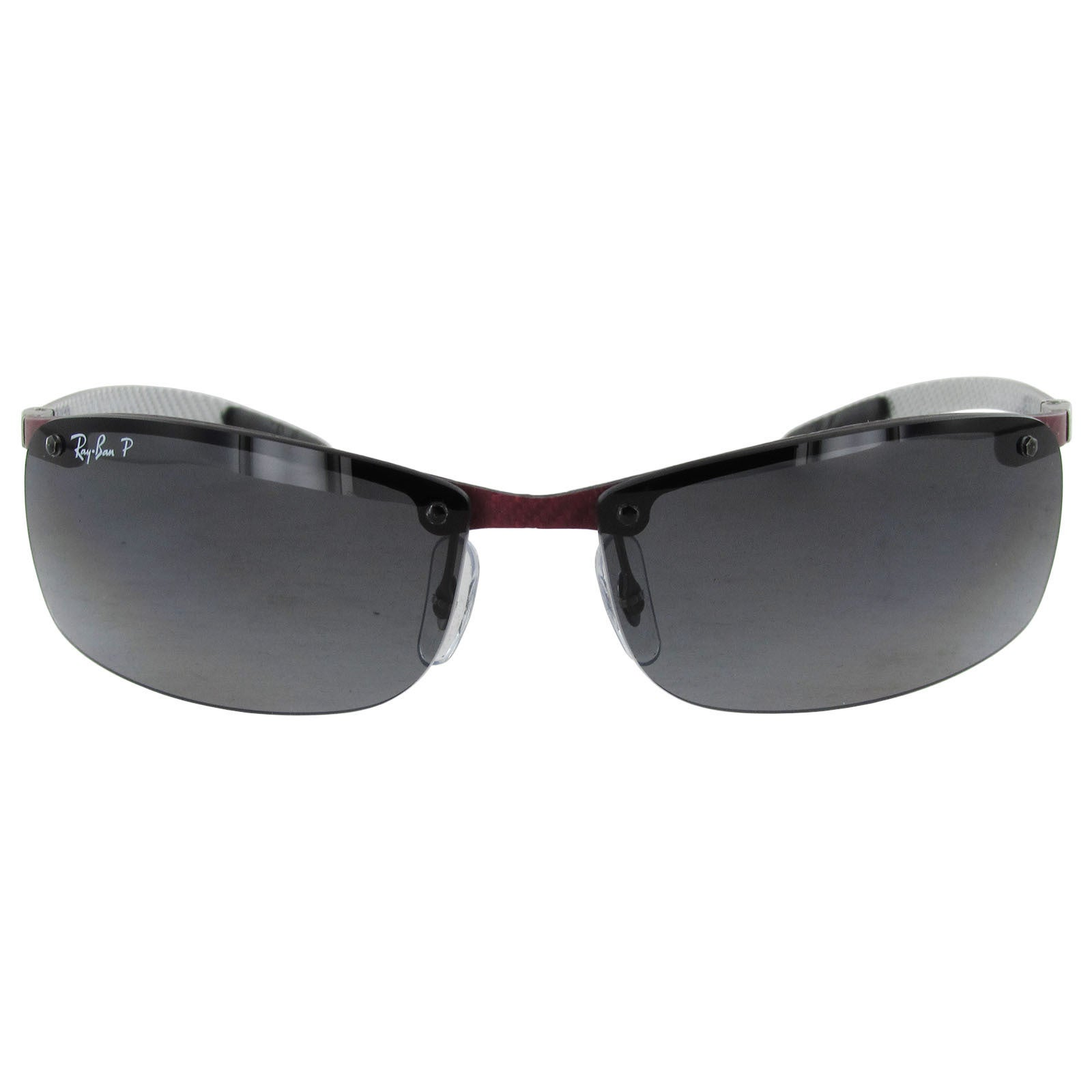 b89ee7c9c2211 ... order shop ray ban tech carbon fibre semi rimless polarized sunglasses  free shipping today overstock 14174294