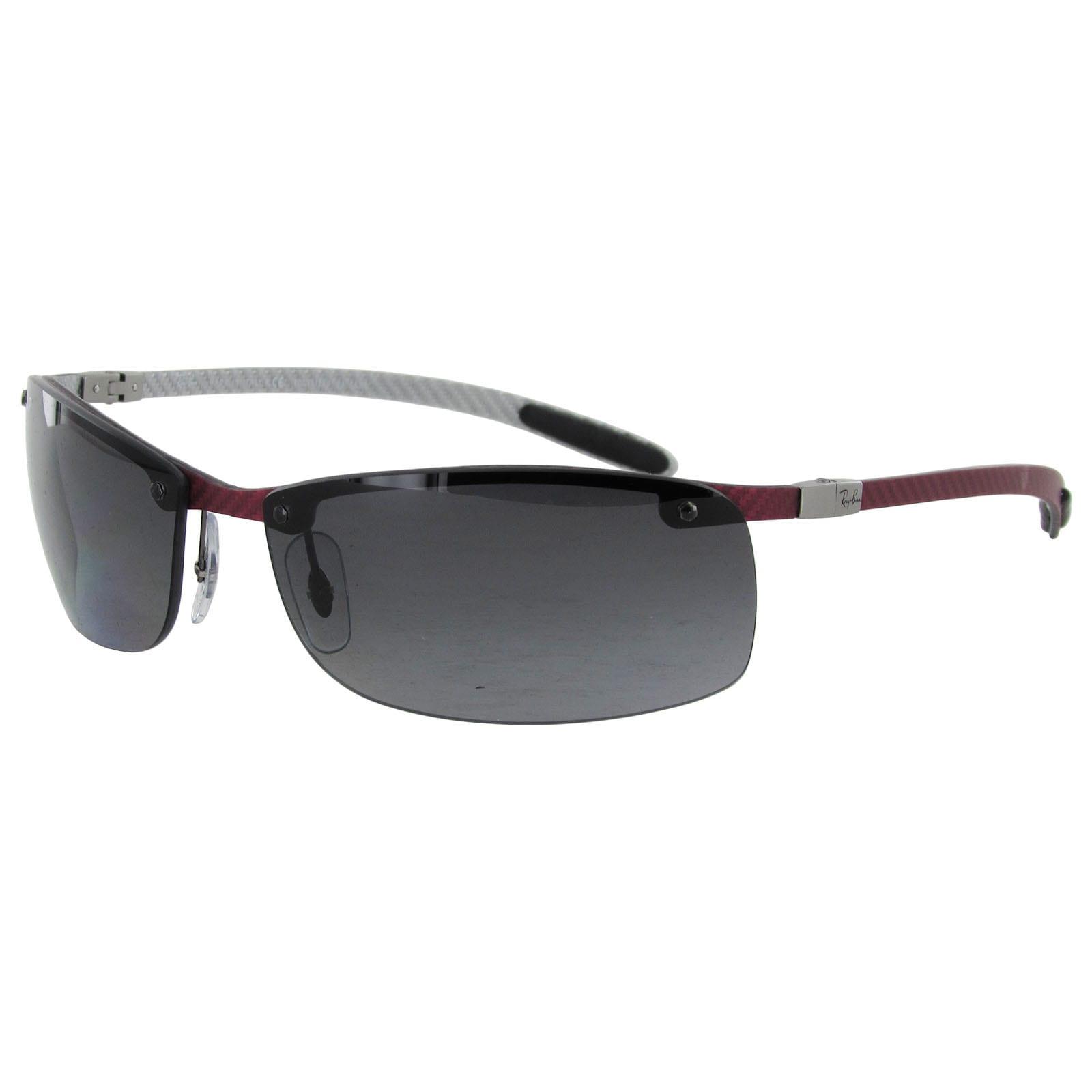 ee2da8f565a ... order shop ray ban tech carbon fibre semi rimless polarized sunglasses  free shipping today overstock 14174294