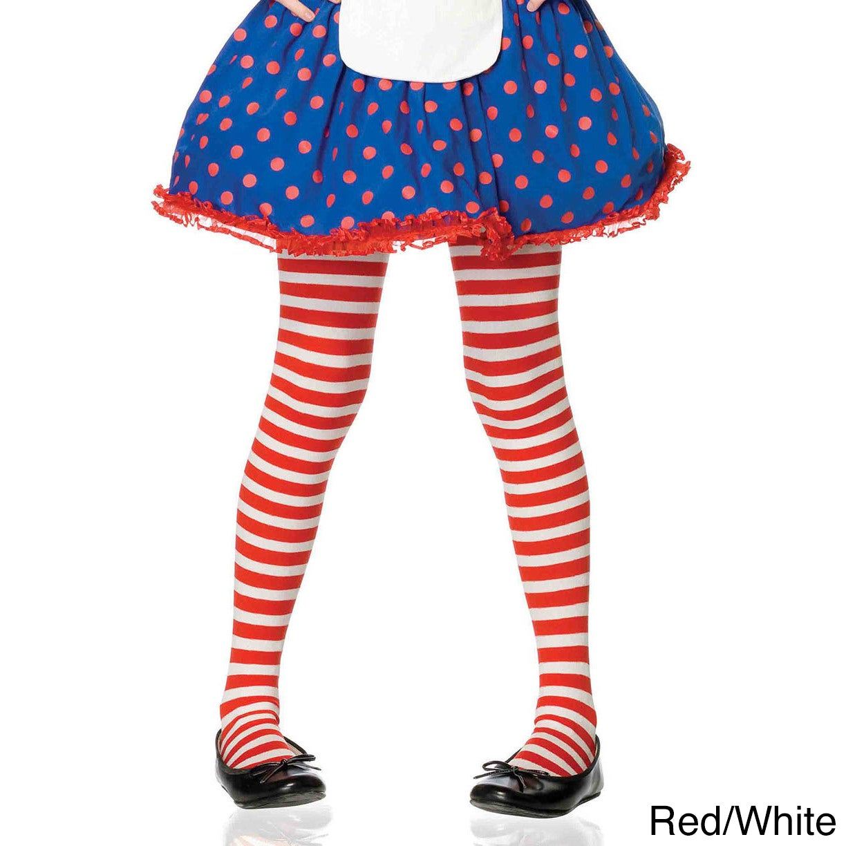 53cf2a1400c Shop Leg Avenue Kid s Nylon Blend Stripe Tights - On Sale - Free Shipping  On Orders Over  45 - Overstock - 14174347
