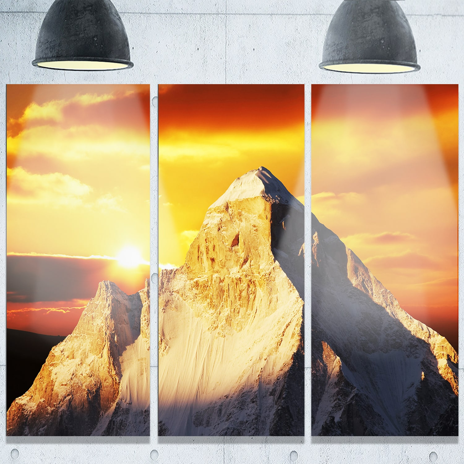 Shop Designart \'Shivling Garhwal Himalaya At Sunset\' Landscape ...