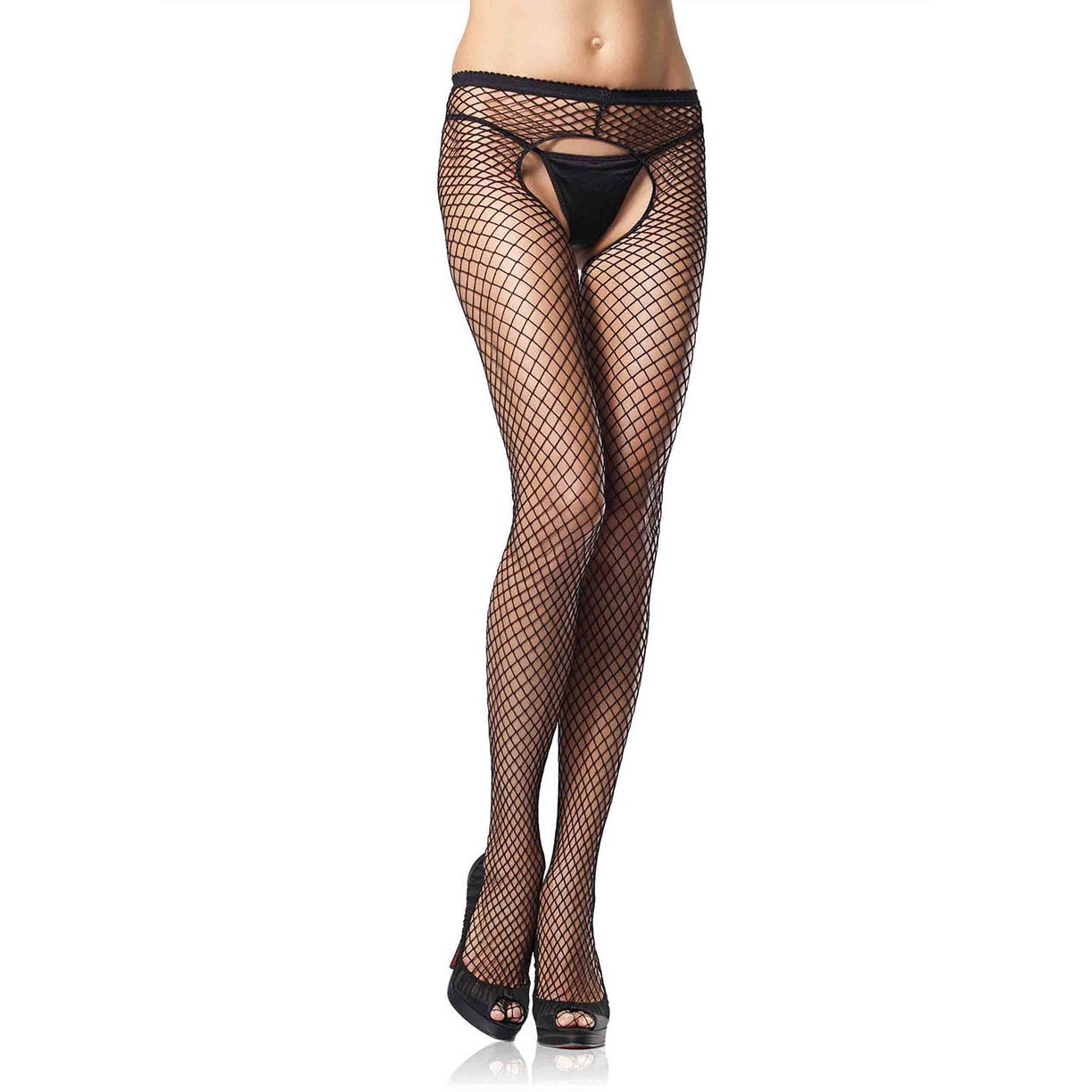 04157bf09e3 Shop Leg Avenue Black Nylon and Spandex Plus-size Industrial Net Pantyhose  - Ships To Canada - Overstock - 14191762