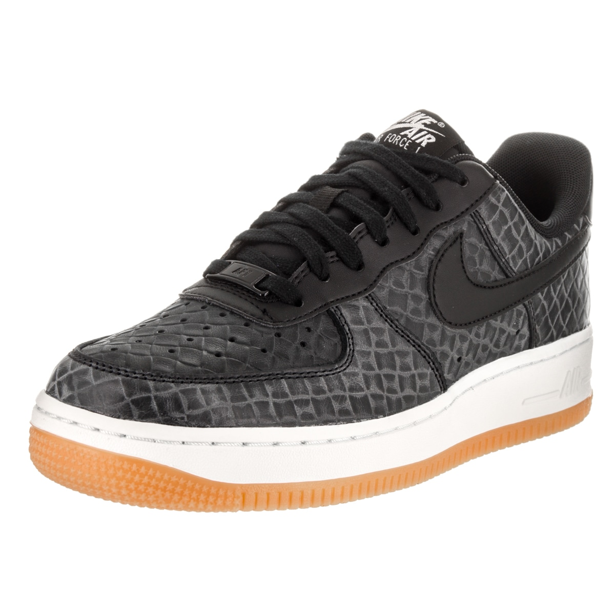 16c72ff54e Nike Women s Air Force 1  07 Prm Black Synthetic Leather Basketball Shoes