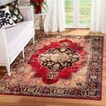 Safavieh Vintage Hamadan Medallion Red/ Multi Distressed Rug (10'6 x 14')