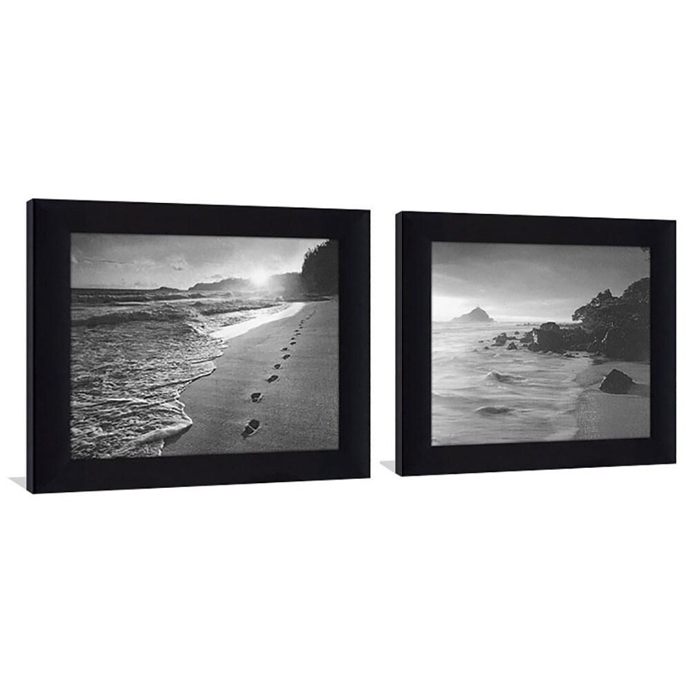 Black & White 5 Framed & Canvassed Wall Art (Set of 2) - Free ...
