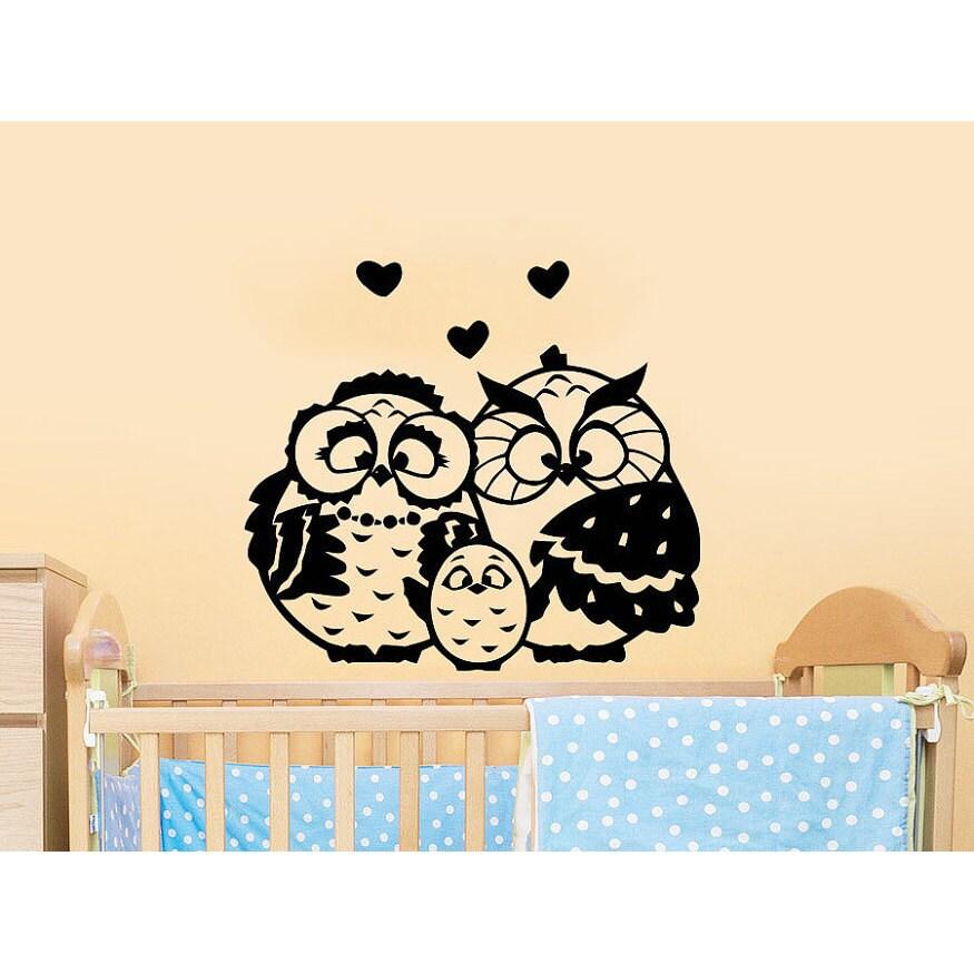 Shop Owls Family Childrens Decor Kids Nursery Baby Room Bedroom ...