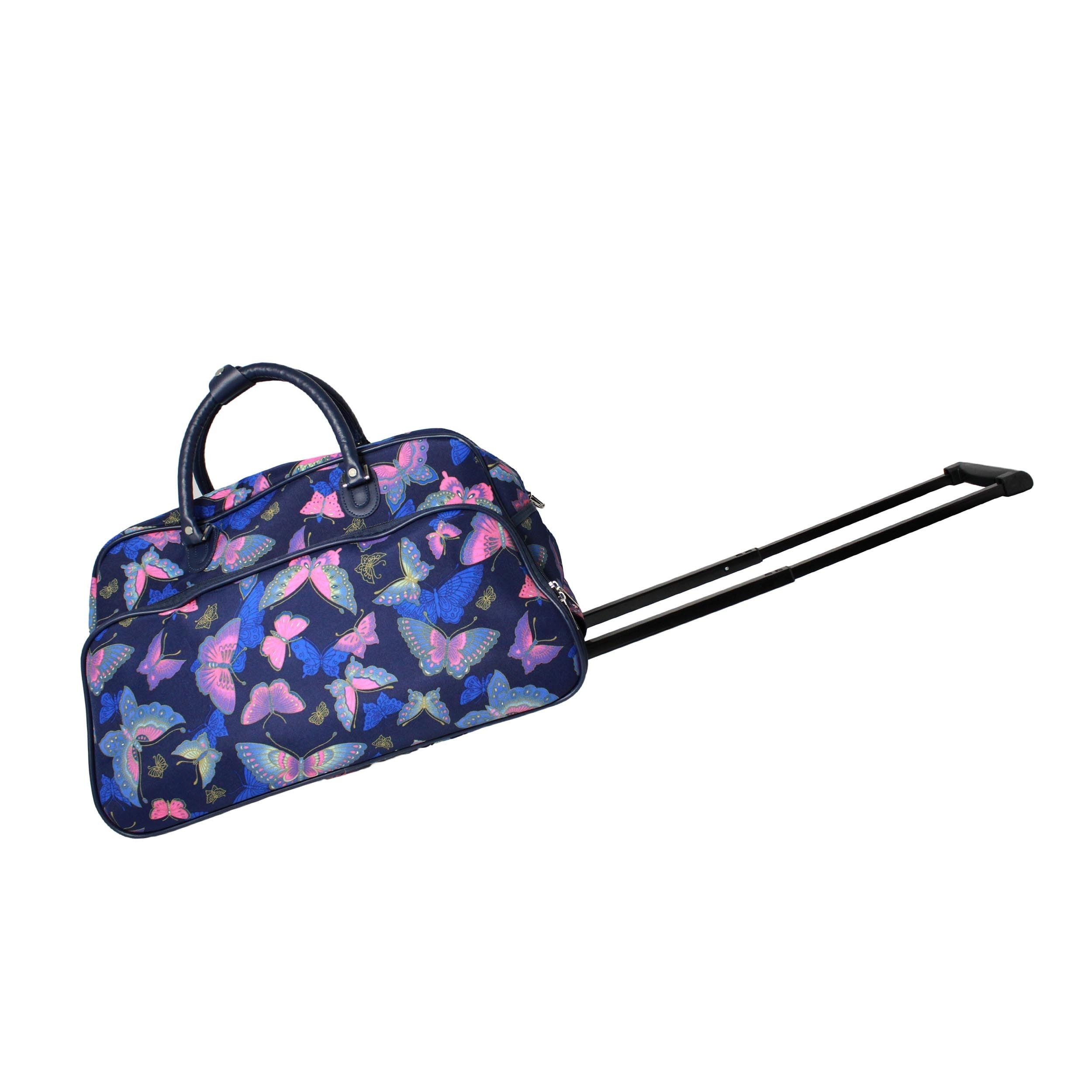 World Traveler Blue Moon Butterfly 21-Inch Carry-On Rolling Duffel Bag 6a7a812cf5
