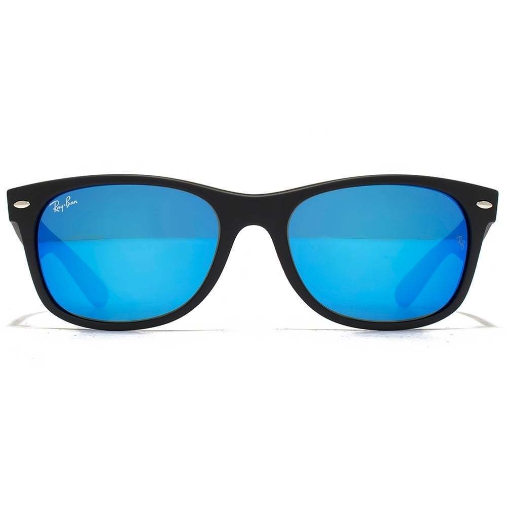bd6a20ff18 Shop Ray-Ban RB2132 622 17 New Wayfarer Black Frame Blue Flash 52mm Lens  Sunglasses - Free Shipping Today - Overstock - 14204728