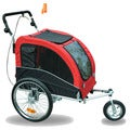 Aosom Elite II Pet Dog Bike Bicycle Trailer Stroller Suspension Jogger