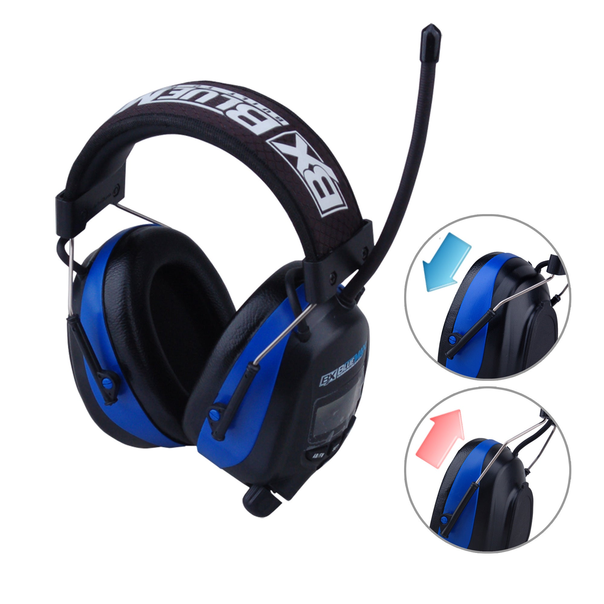 02a676b2a29644 Blue Max Digital Protective Headphones Earmuffs with AM FM Stereo Display