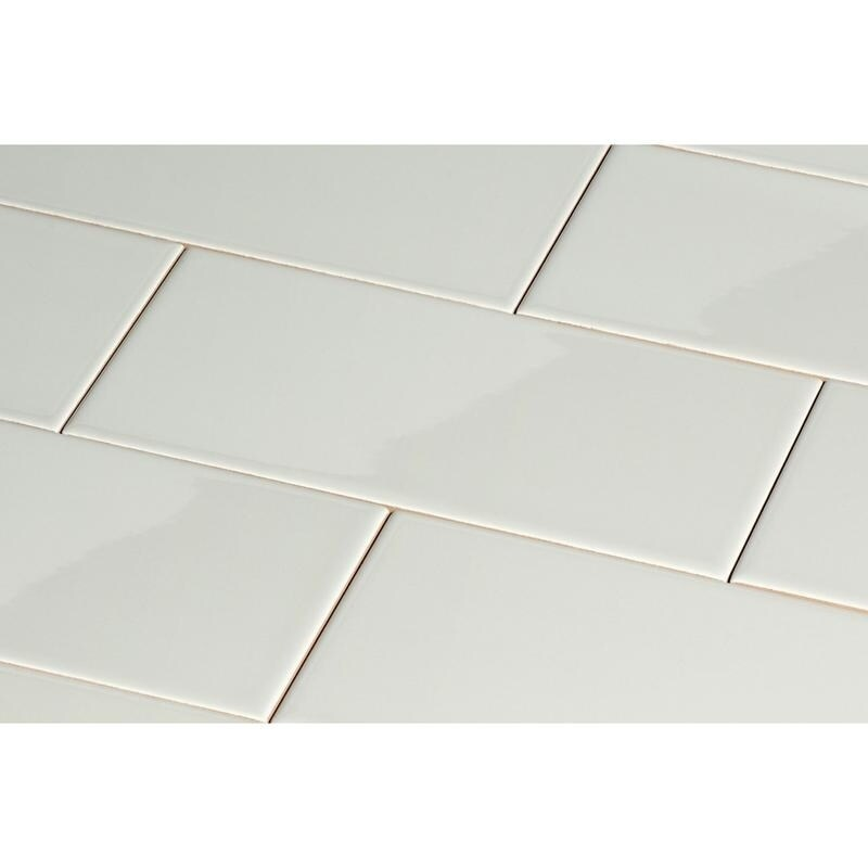 Giorbello Light Grey Ceramic 3x6 Subway Tiles Case Of 14 5 Sq Ft Free Shipping On Orders Over 45 14206938