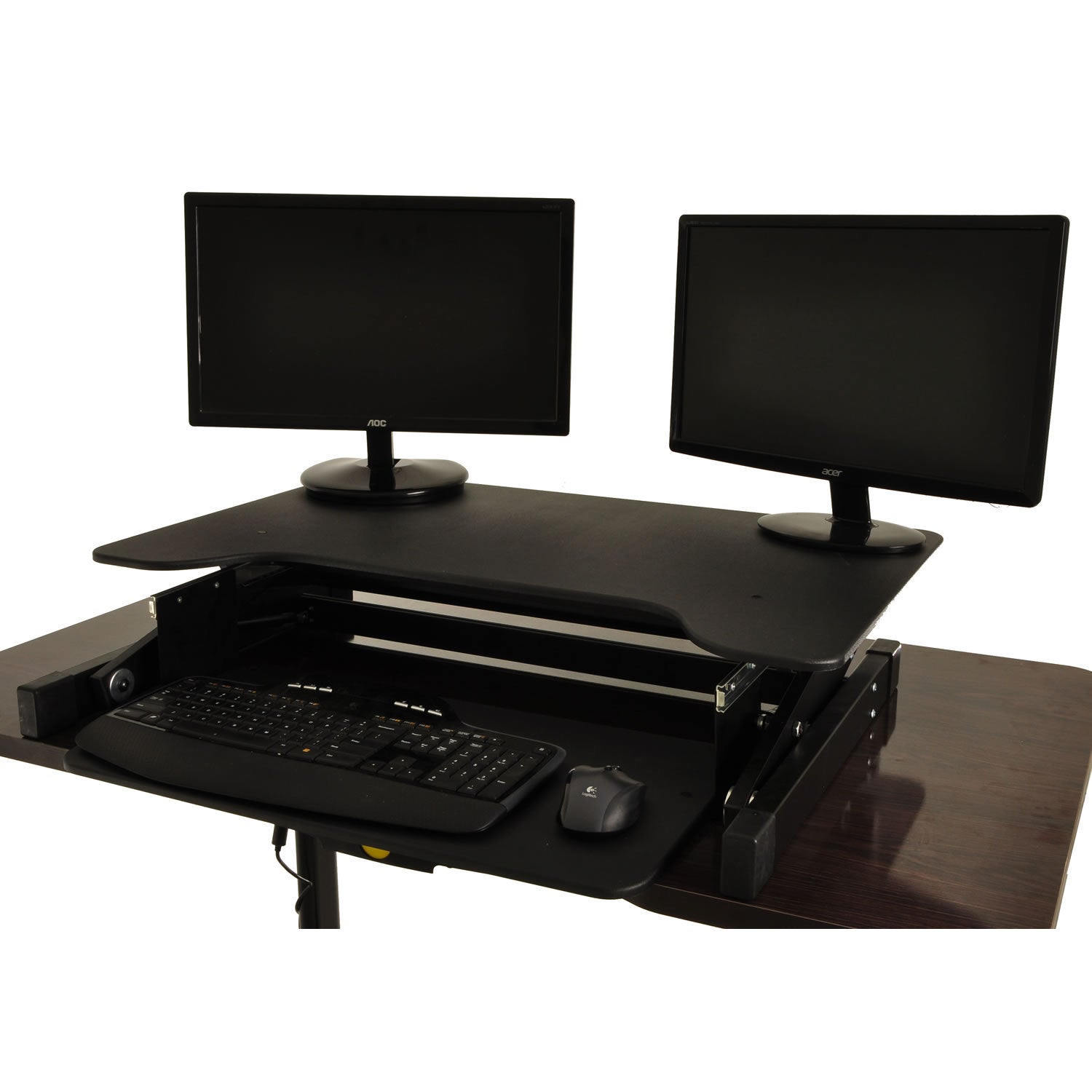Desktop Tabletop Standing Desk Adjustable-height Sit-to-stand Ergonomic  Workstation - Free Shipping Today - Overstock.com - 20804047