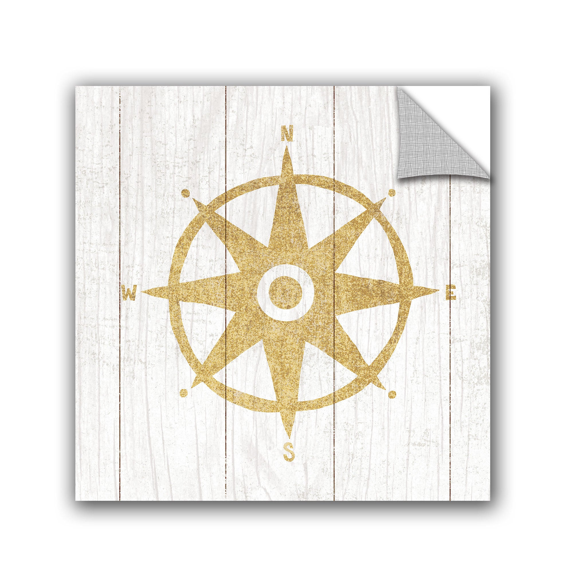 ArtAppealz Michael Mullan\'s Beachscape IV Compass Gold Neutral ...