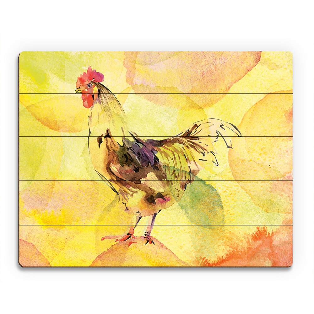Funky Rooster Wall Decor Plates Frieze - Wall Painting Ideas ...