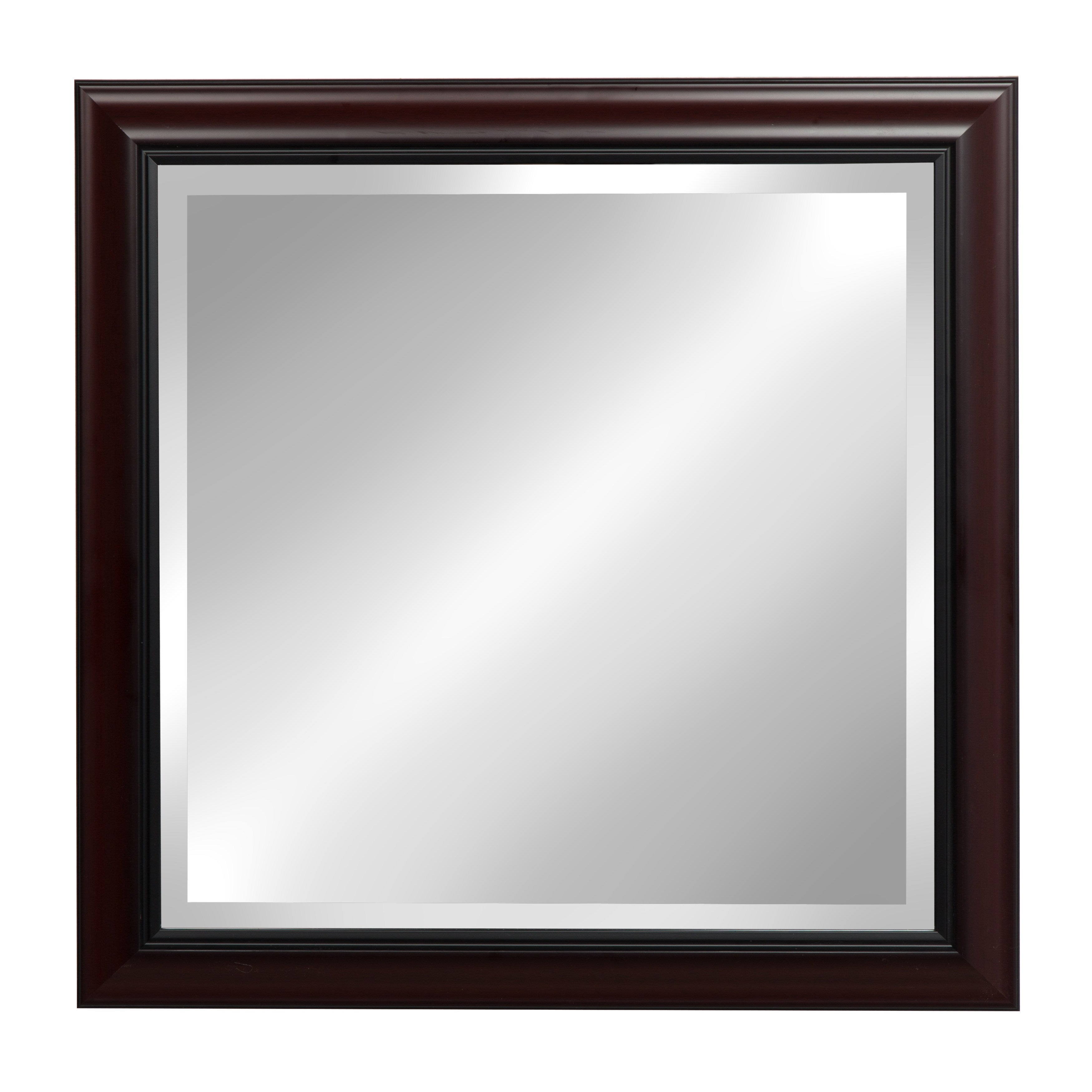 Shop Designovation Dalat Cherry Framed Beveled Wall Mirror Free