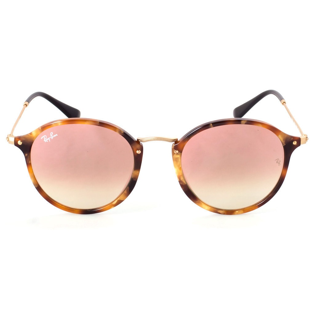 136d4b1b4 Shop Ray-Ban Round Fleck RB2447 11607O Tortoise Frame Copper Gradient Flash  Lens Sunglasses - Ships To Canada - Overstock - 14220396