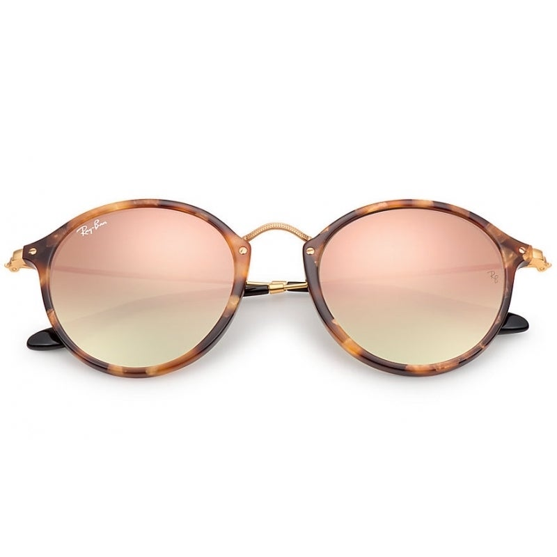 2c5749fcf62e3 Shop Ray-Ban Round Fleck RB2447 11607O Tortoise Frame Copper Gradient Flash  Lens Sunglasses - Free Shipping Today - Overstock.com - 14220396
