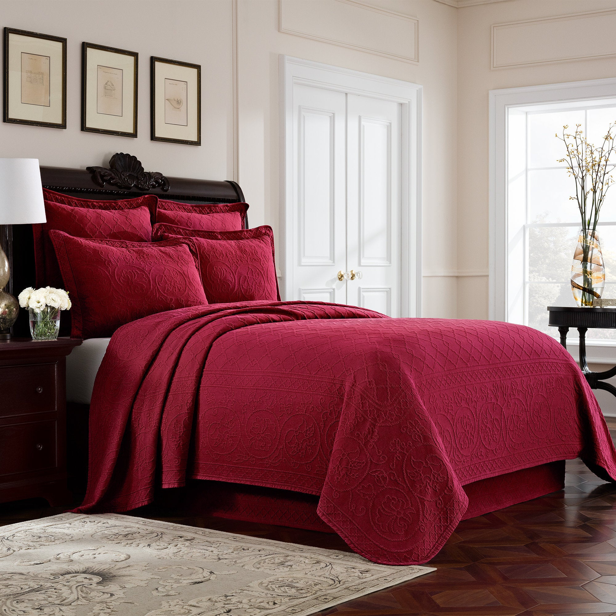 Williamsburg Richmond Matelasse Cotton Coverlet  Free Shipping Today