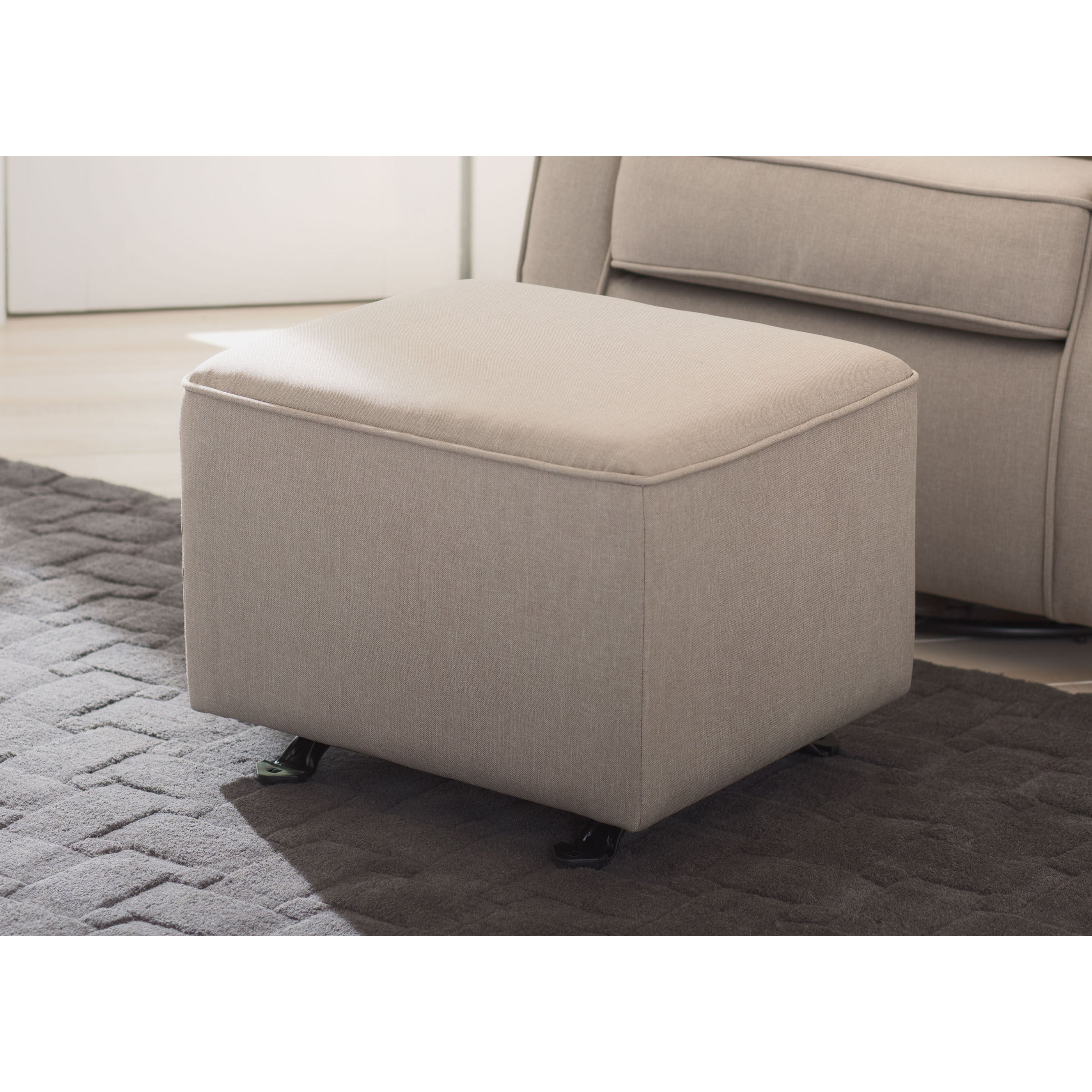Taupe Delta Children Nursery Gliding Ottoman Free Shipping Today 14221058