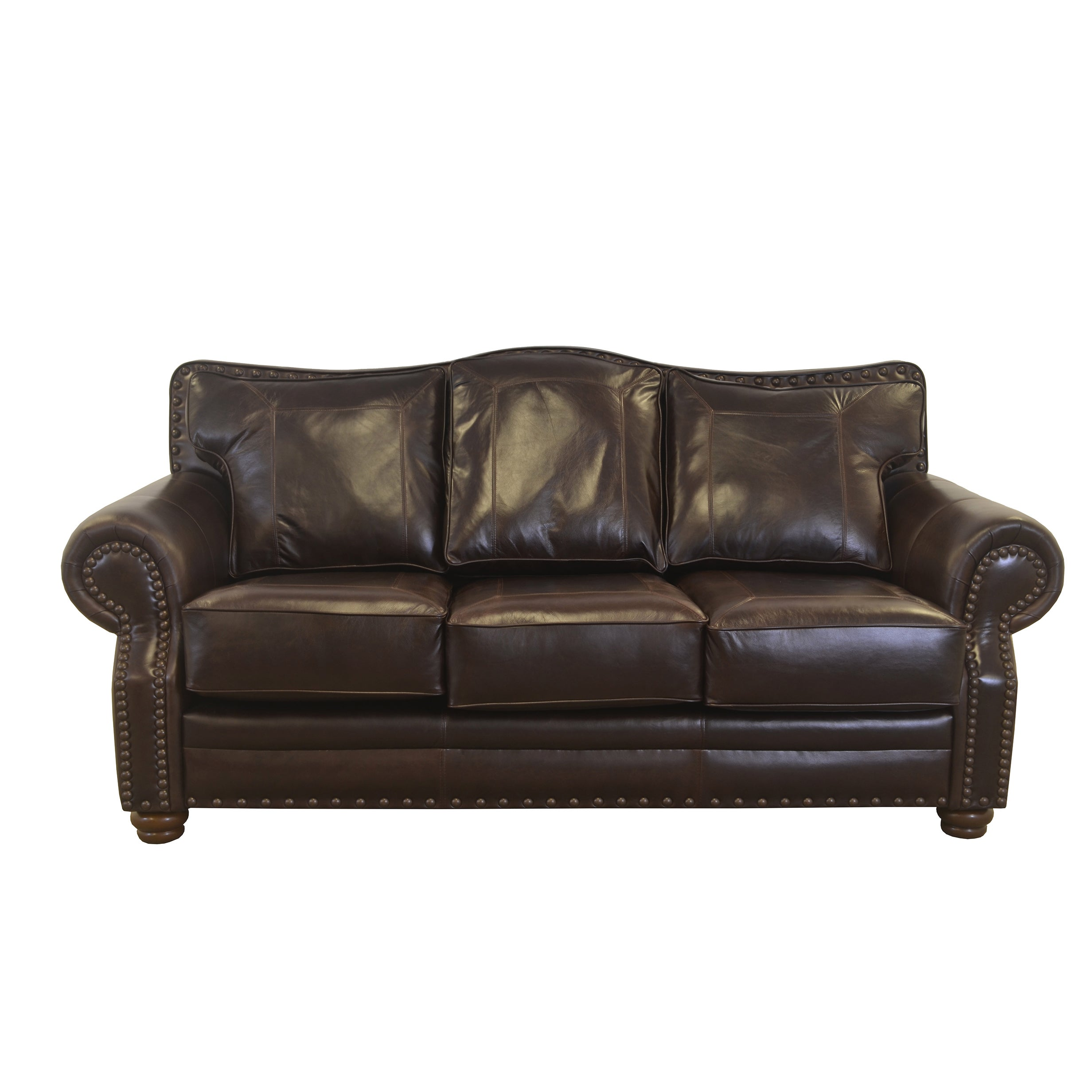 Made To Order Westford Genuine Top Grain Leather Nailhead Trimmed Sofa On Free Shipping Today 14221231