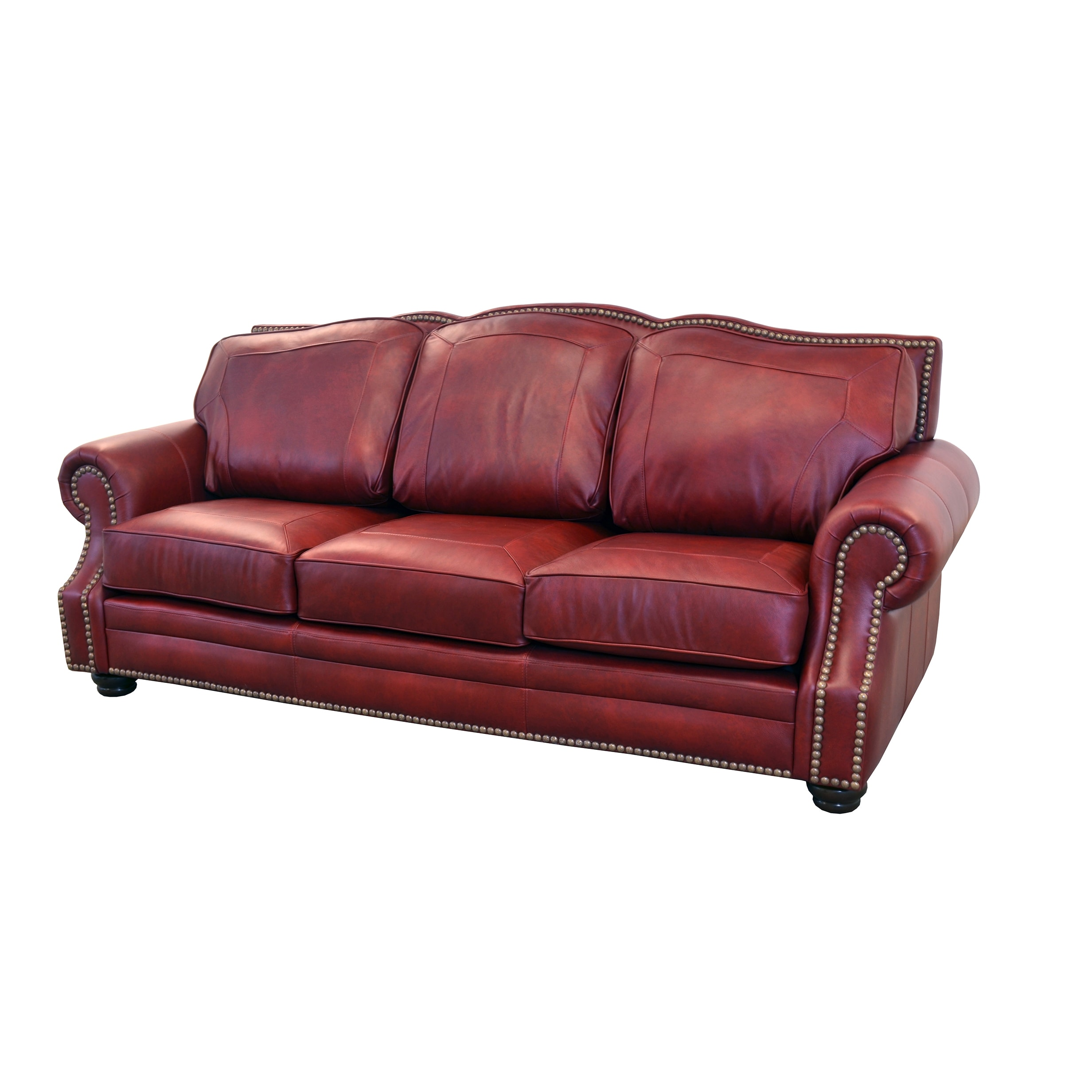 Shop Made to Order Winchester Genuine Top Grain Leather Nailhead ...